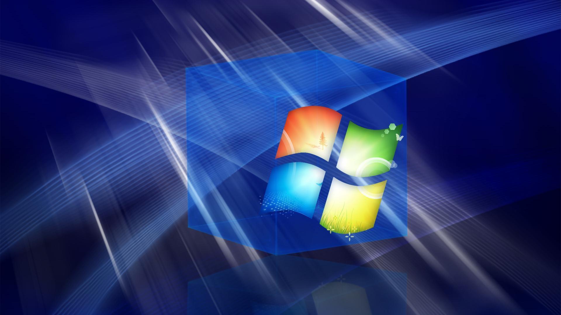 Hd 3d Blue Windows Cube desktop backgrounds wide wallpapers :1280×800,1440×900,1680×1050