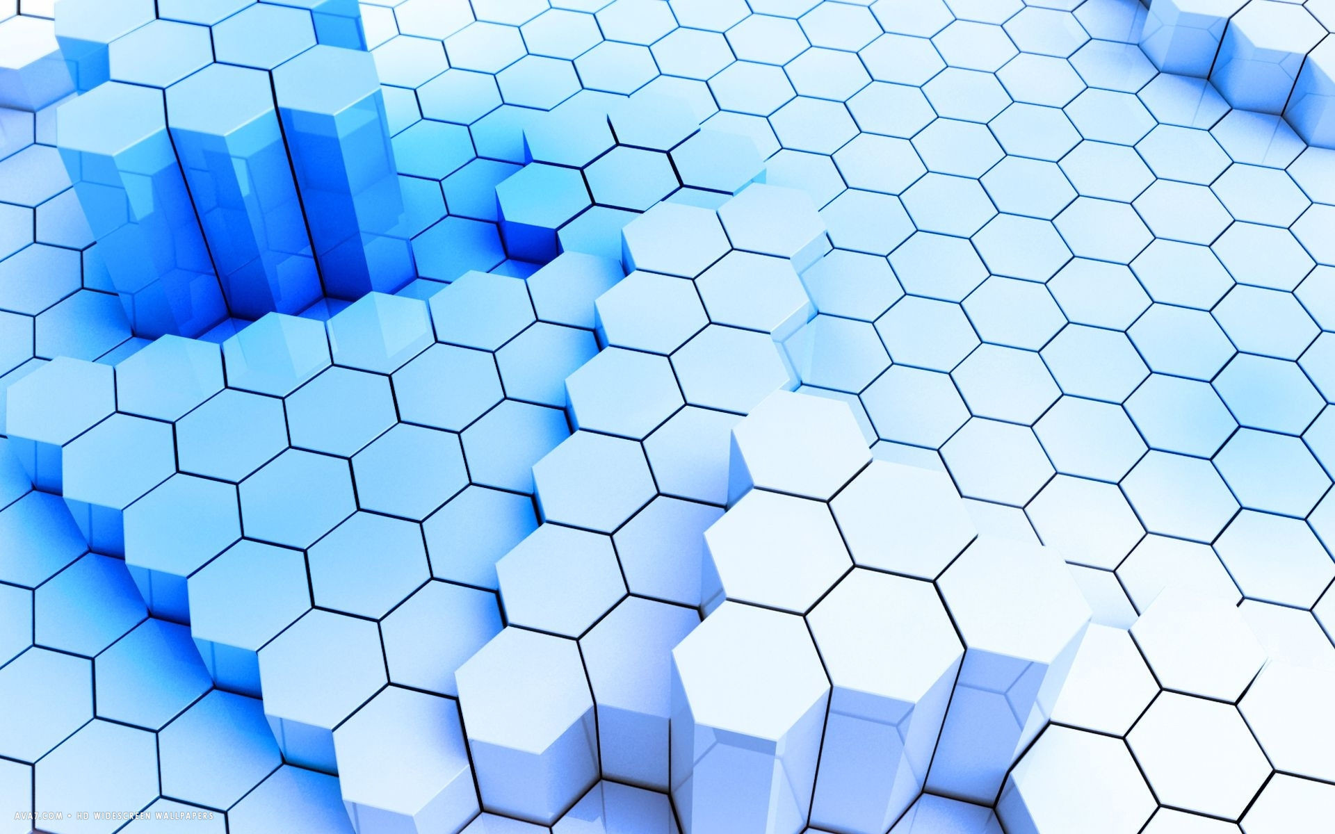 hexagons honeycomb mesh blue deformed hd widescreen wallpaper and desktop  backgrounds for your computer or tablet