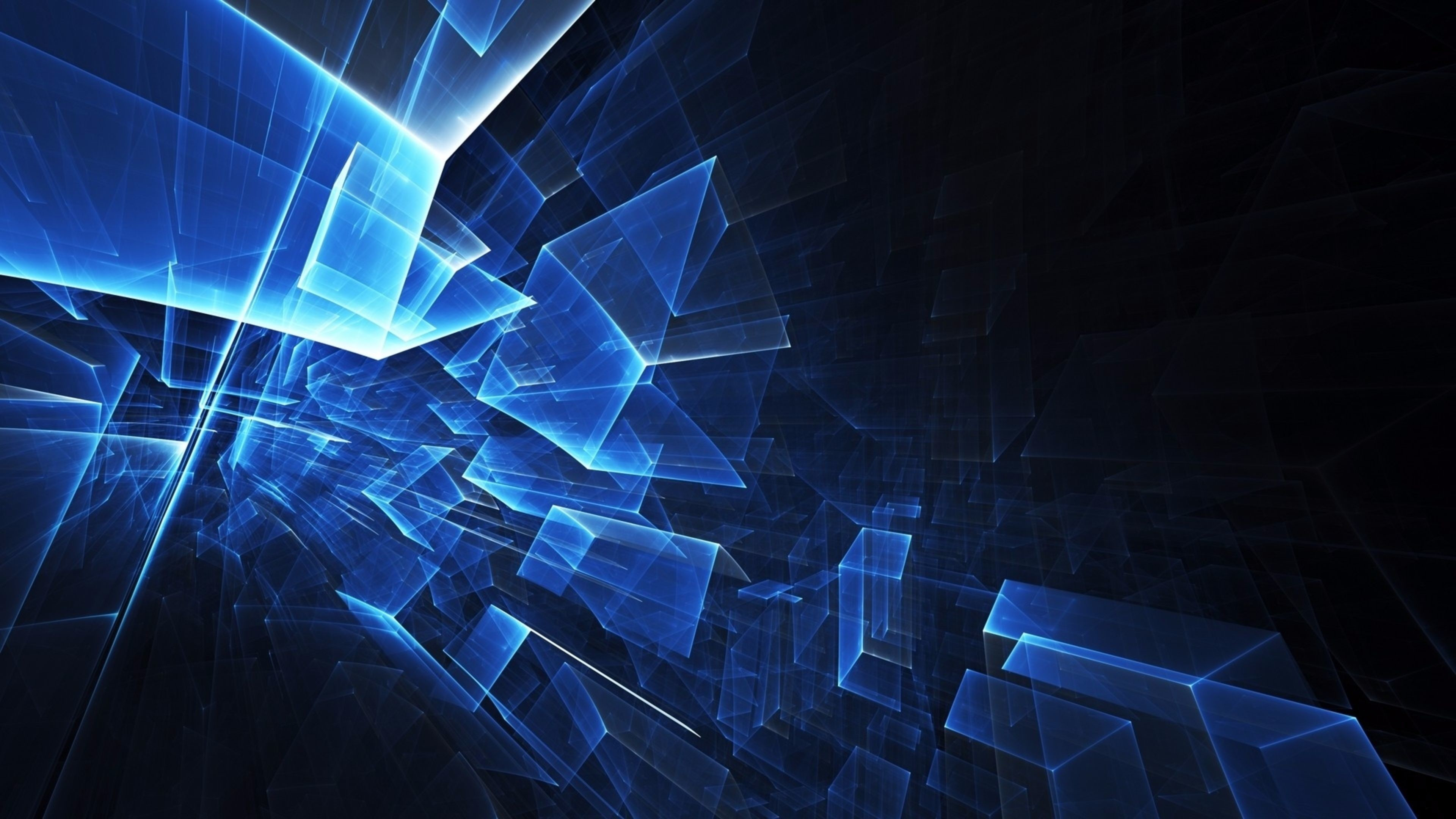 … Wallpapers 4k Abstract Wallpaper Blue Cubes 4K | Free Computer  Backgrounds abstract wallpaper …