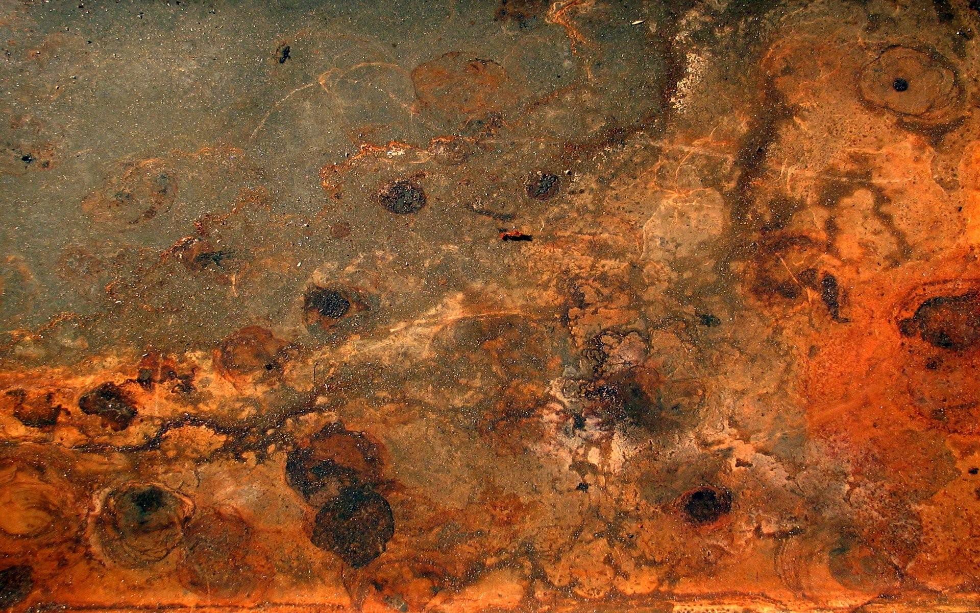 rust textures red metal