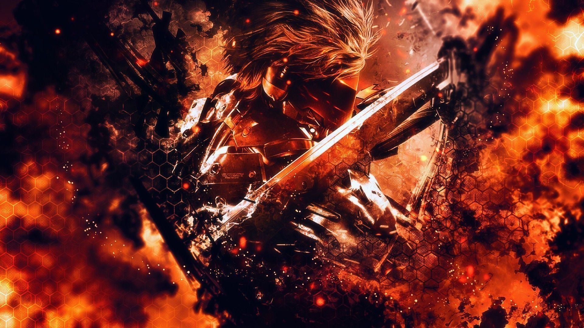 Flames Raiden Metal Gear Rising Revengeance Mgr Wallpaper Mixhd .