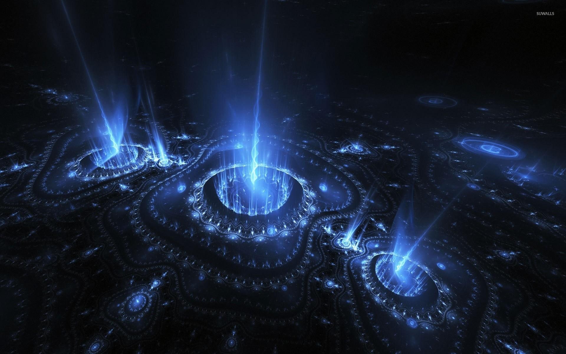 Light beam emerging from the fractal swirls wallpaper jpg