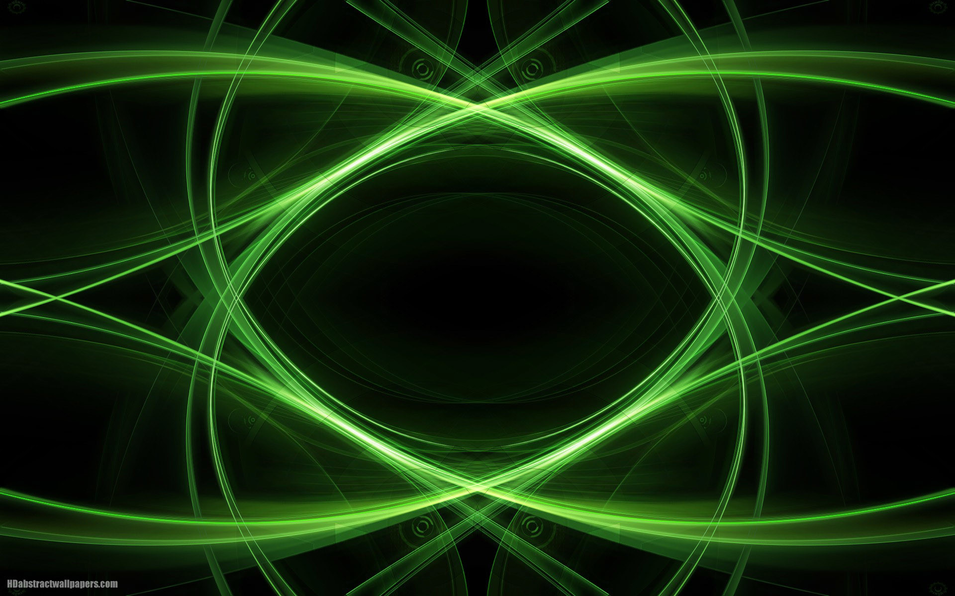 Black abstract wallpaper with green lines