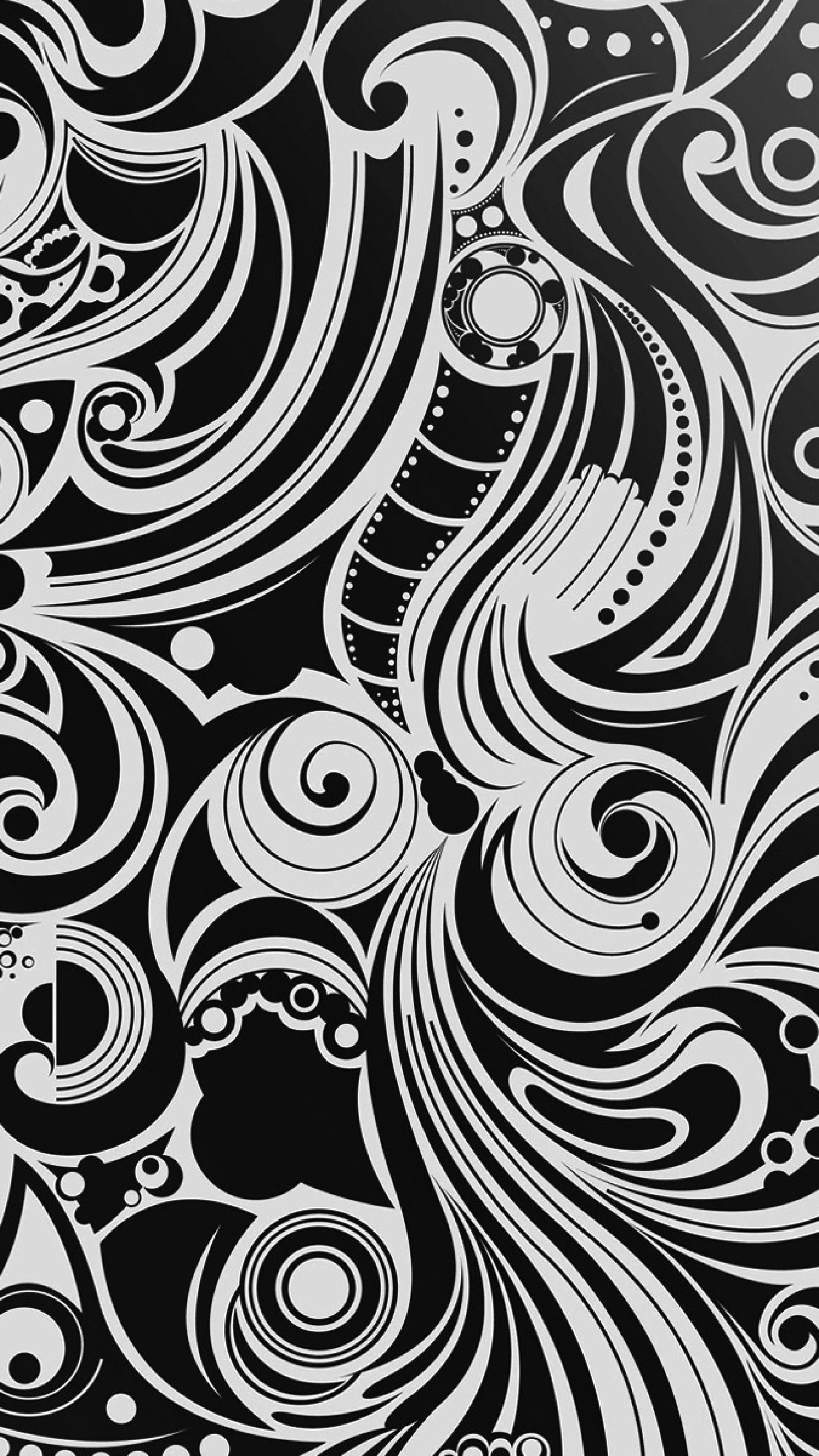 Wallpaper black, white, pattern, shape, patterns