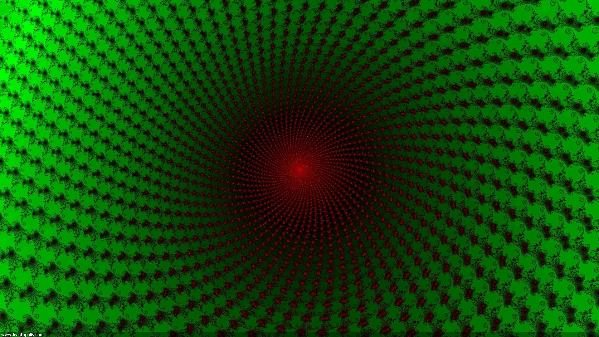 Preview wallpaper dark, green, red, immersion 1920×1080