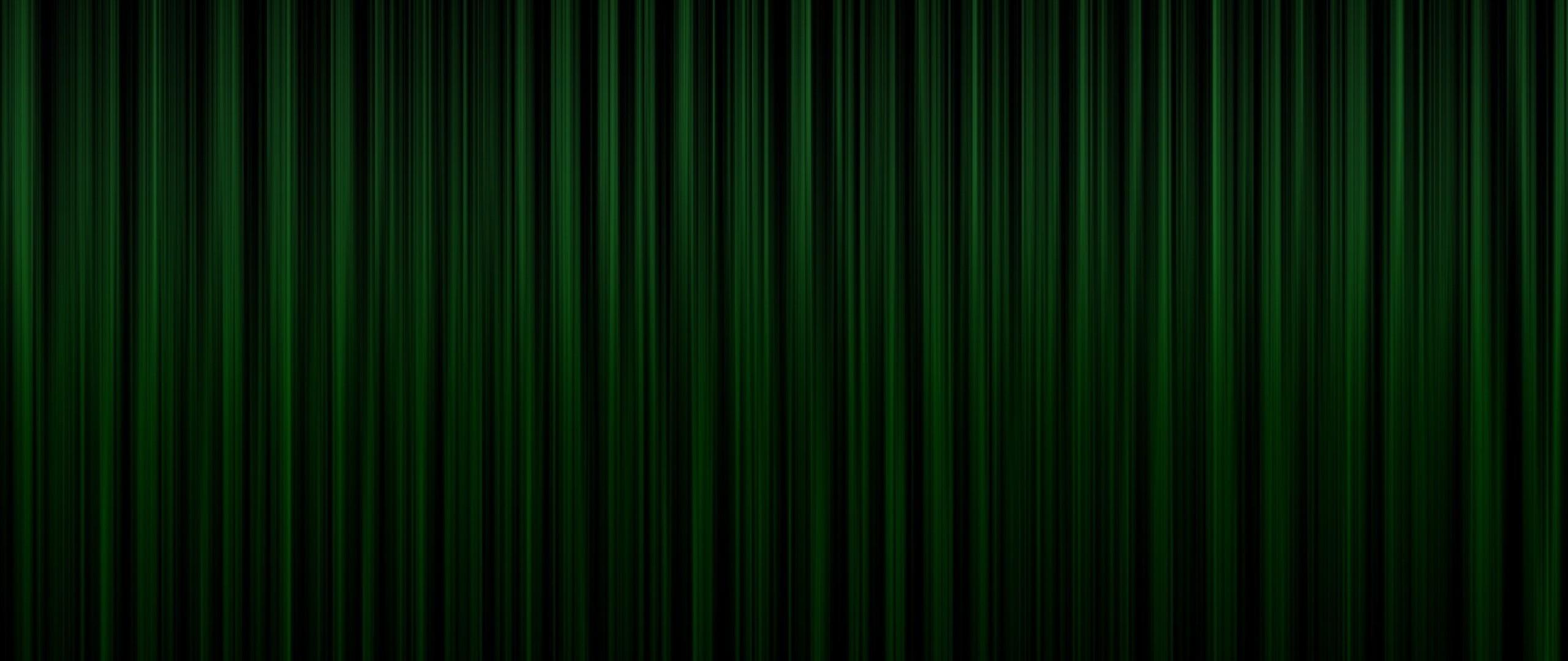 Preview wallpaper green, bands, vertical, dark, shadow 2560×1080