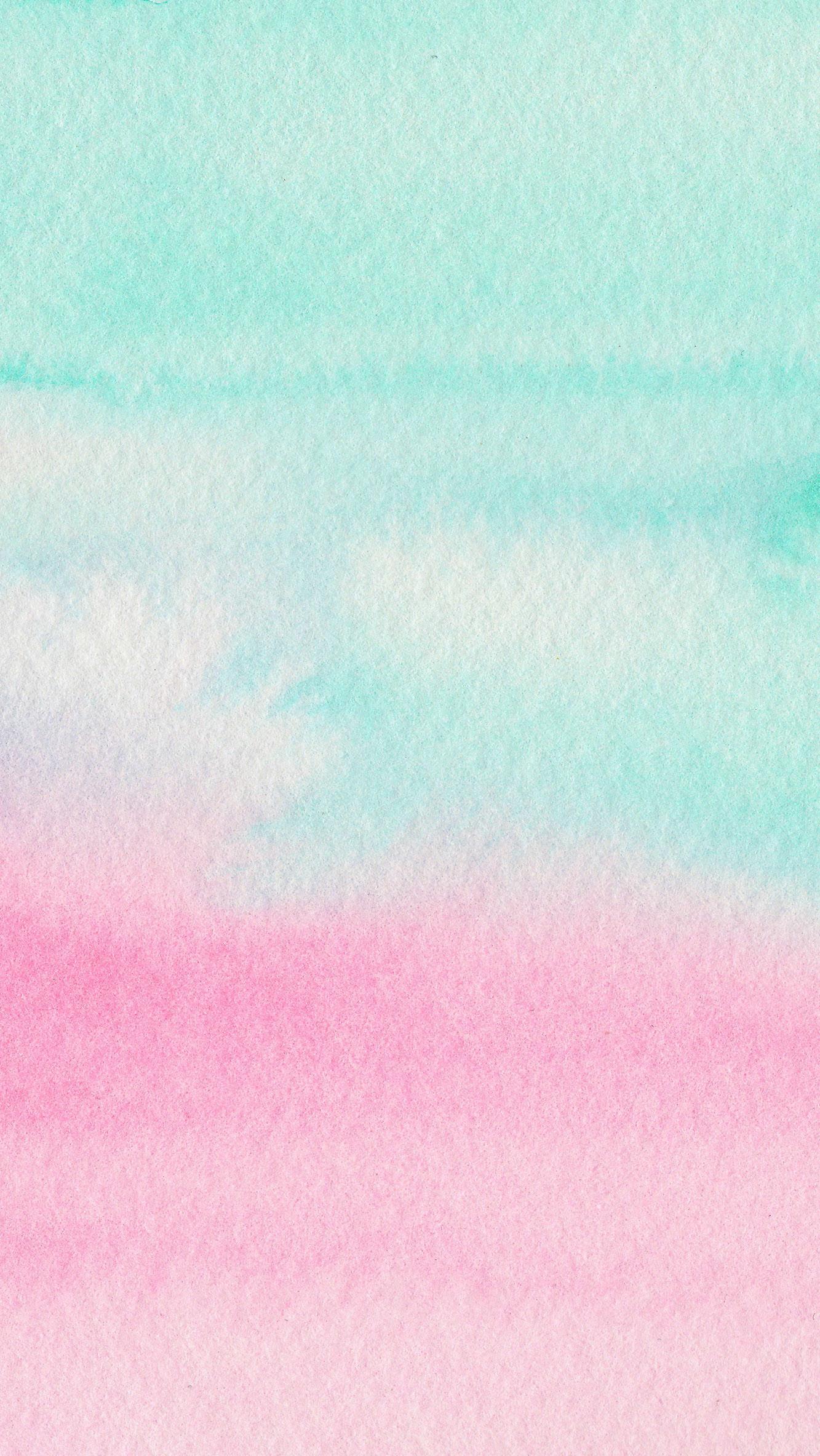 Mint Aqua pink watercolour ombre texture iphone wallpaper phone background  lock…
