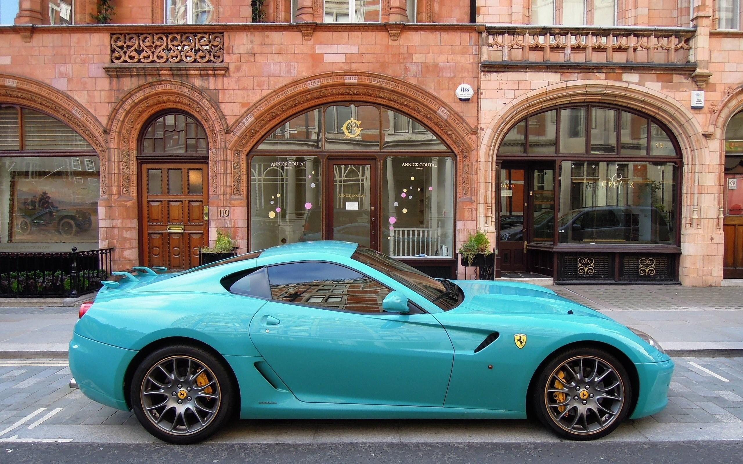 Ferrari Aqua Blue wallpaper