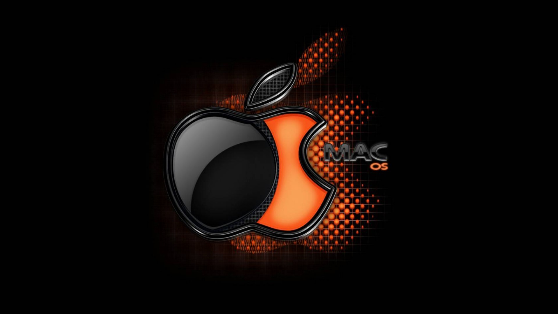 Black And Orange Wallpaper