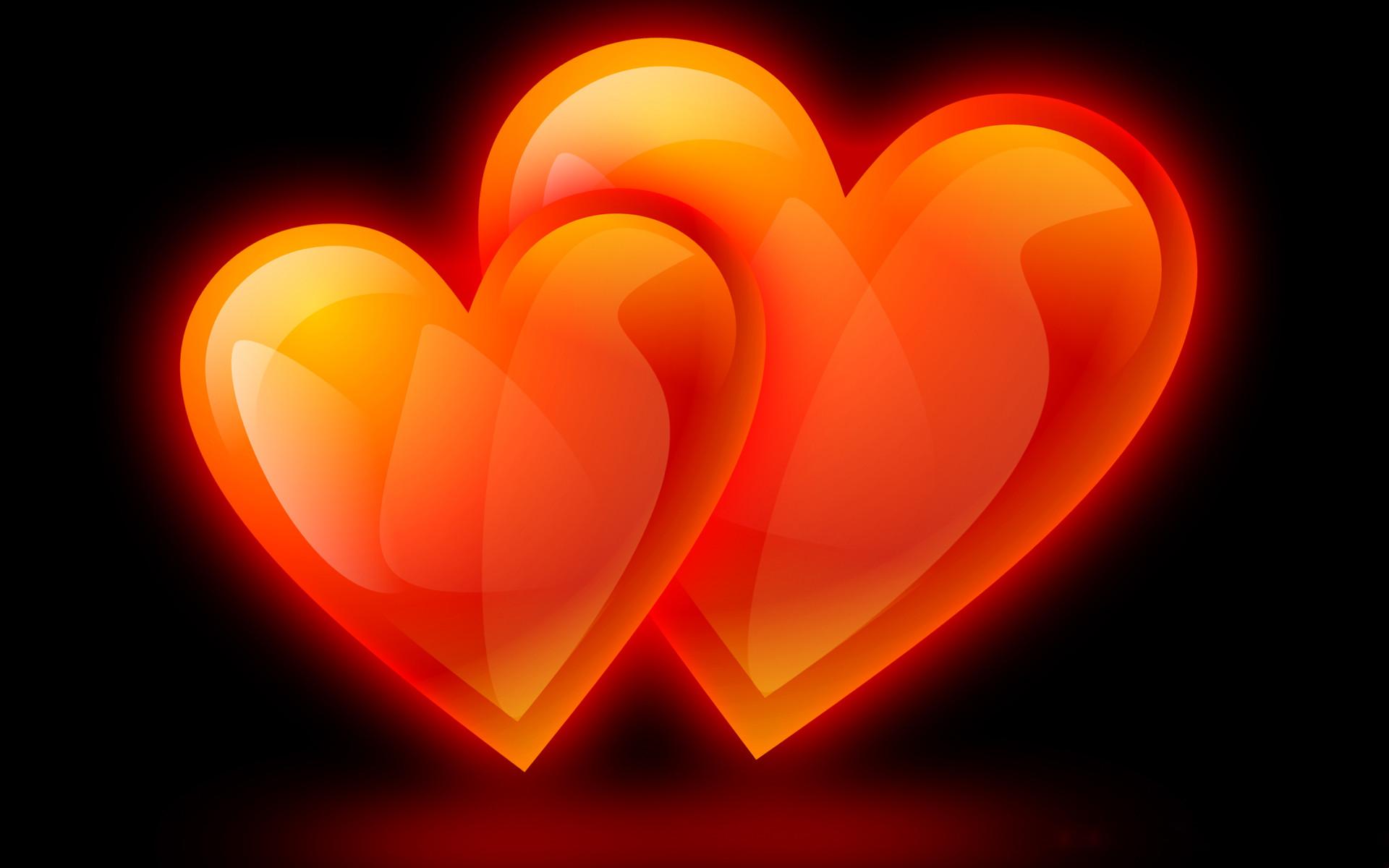 Orange & Black Hearts