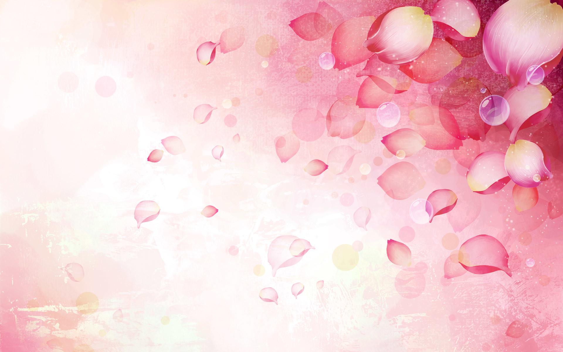 pink flower ppt backgrounds