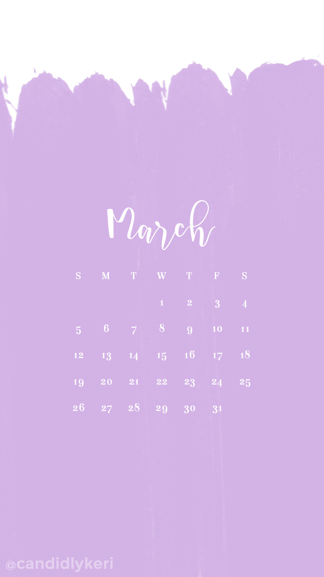Lilac light purple paint stripes March calendar 2017 wallpaper you can  download for free on the