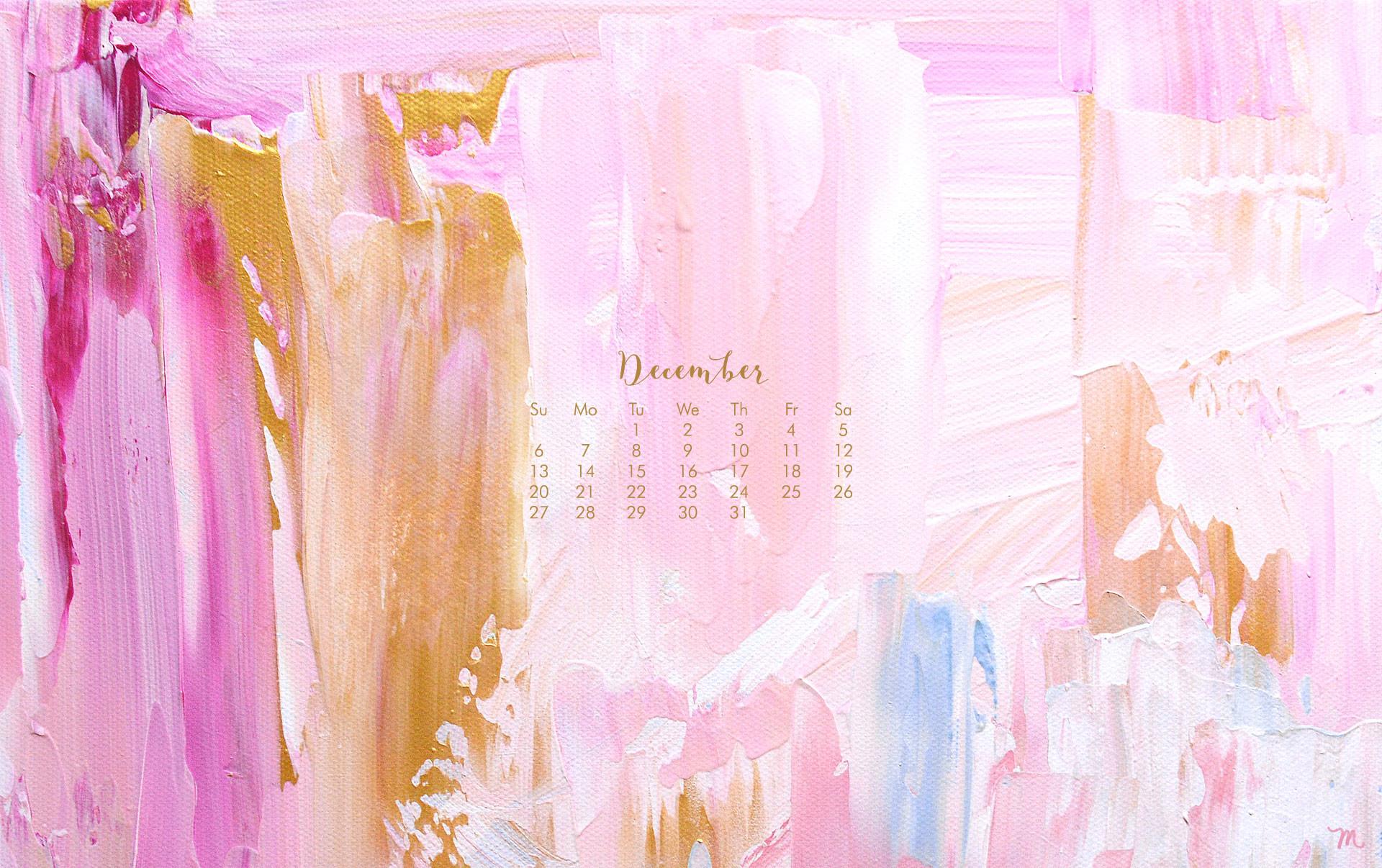 [ Download Abstract Art December Calendar 1920 x 1080 Wallpaper ]