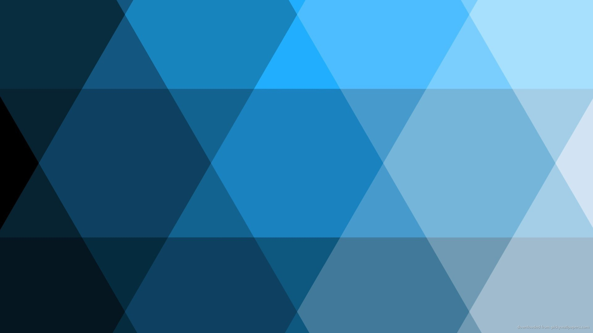 Blue trianglish pattern for 1920×1080