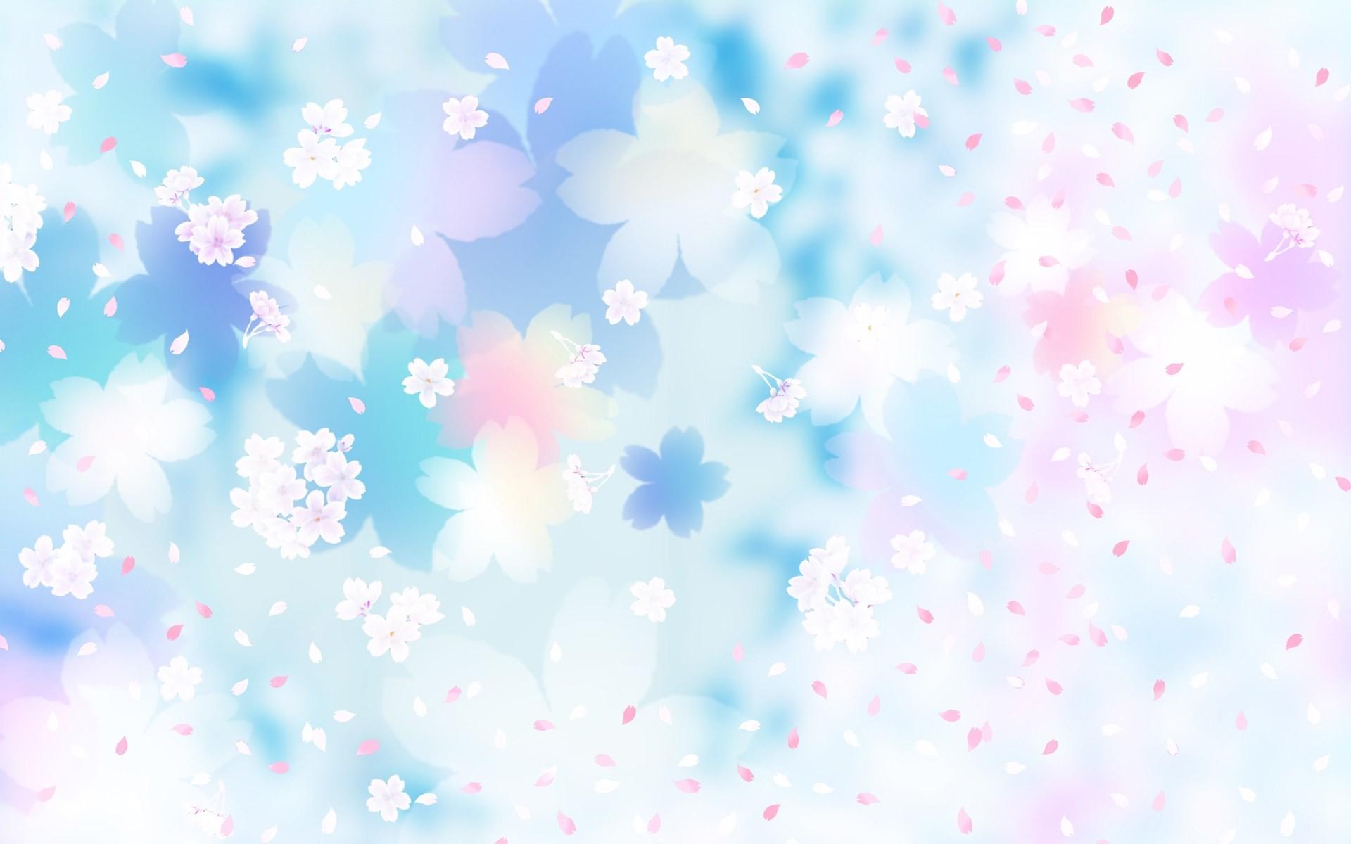 Pink And Blue Floral Background Flower backgro…