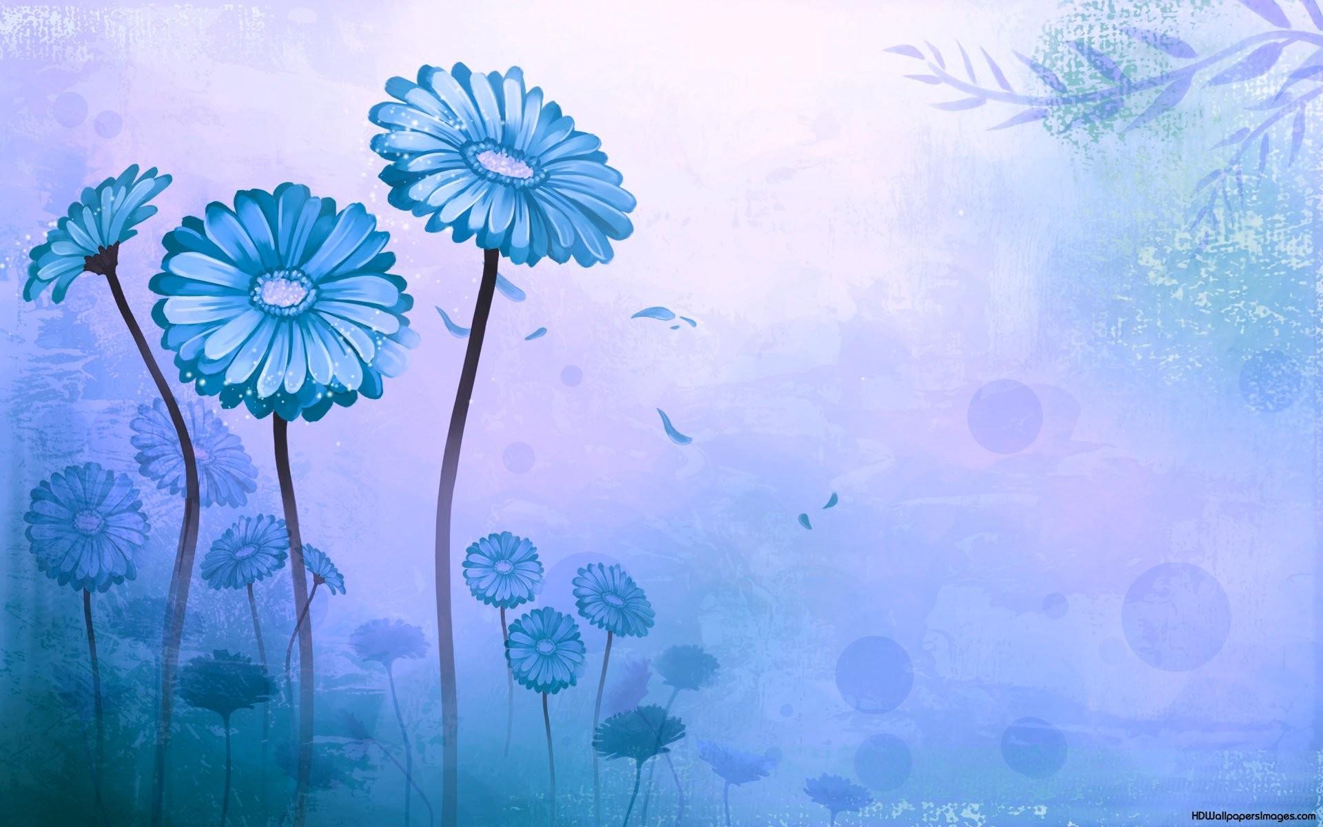 Light Blue Flower Wallpaper 1920×1200