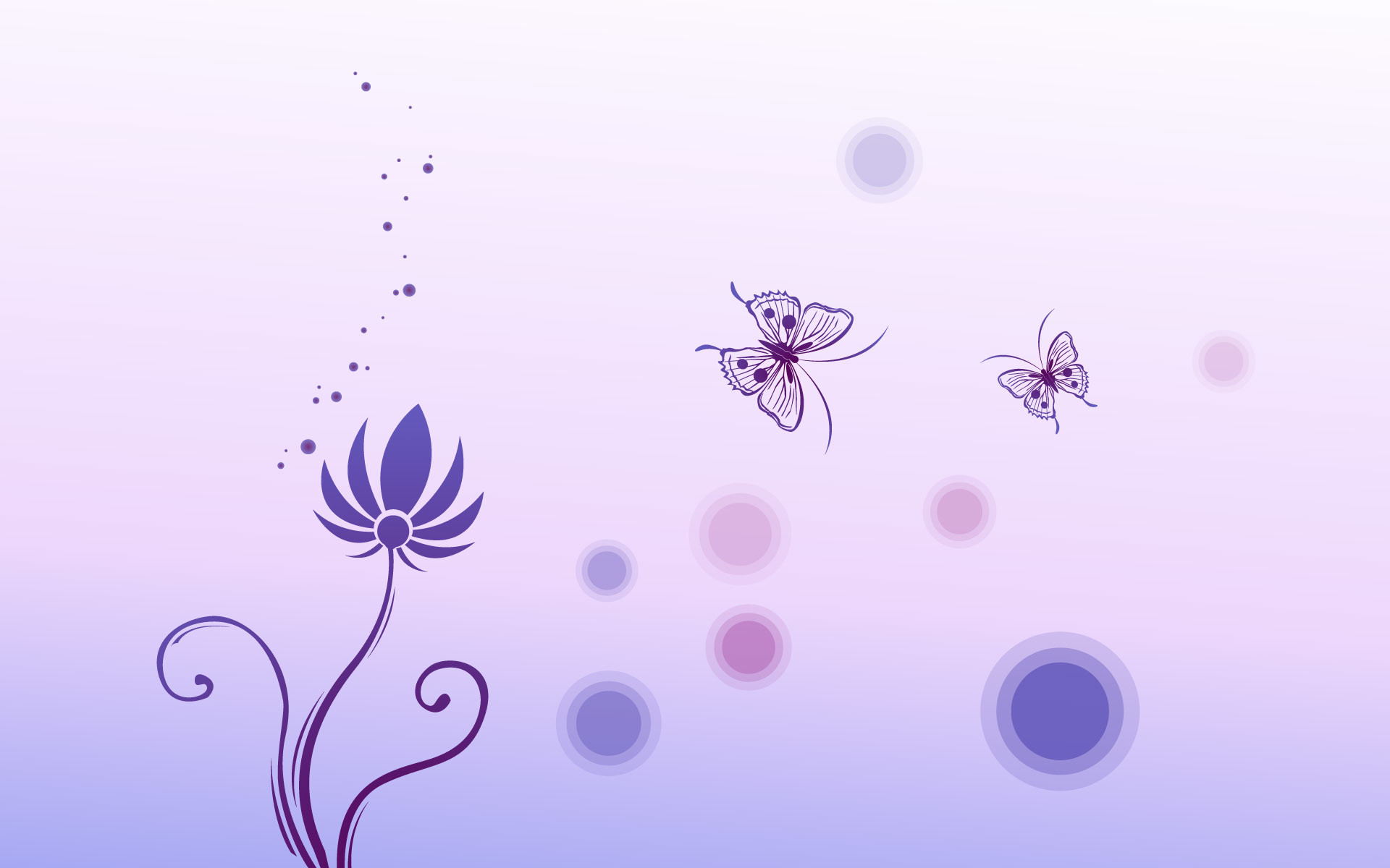 Flowers and Butterflies are Like a Pair of Lovers, on Light Blue .