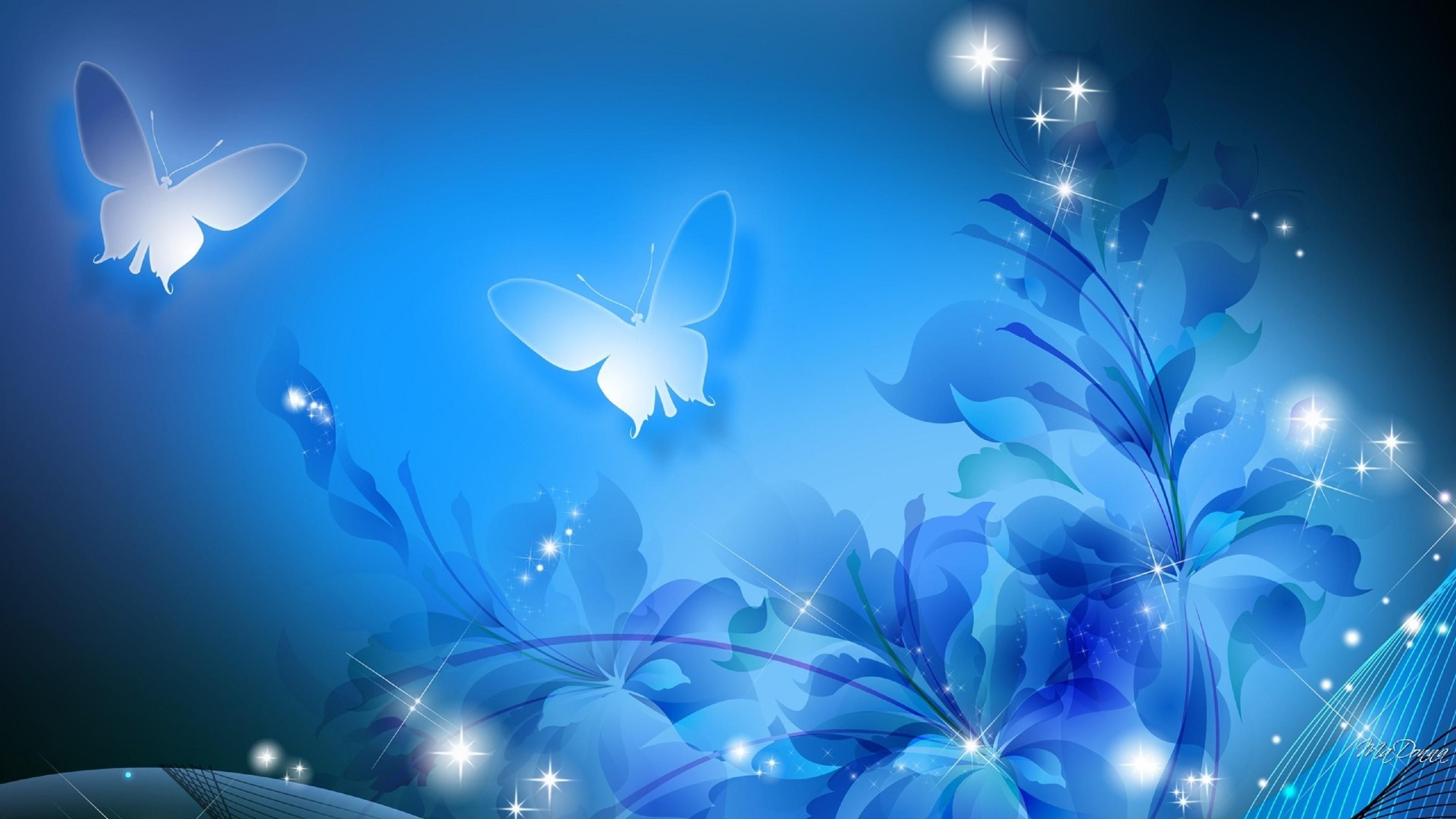 Light Blue Flowers HD Desktop Background 1