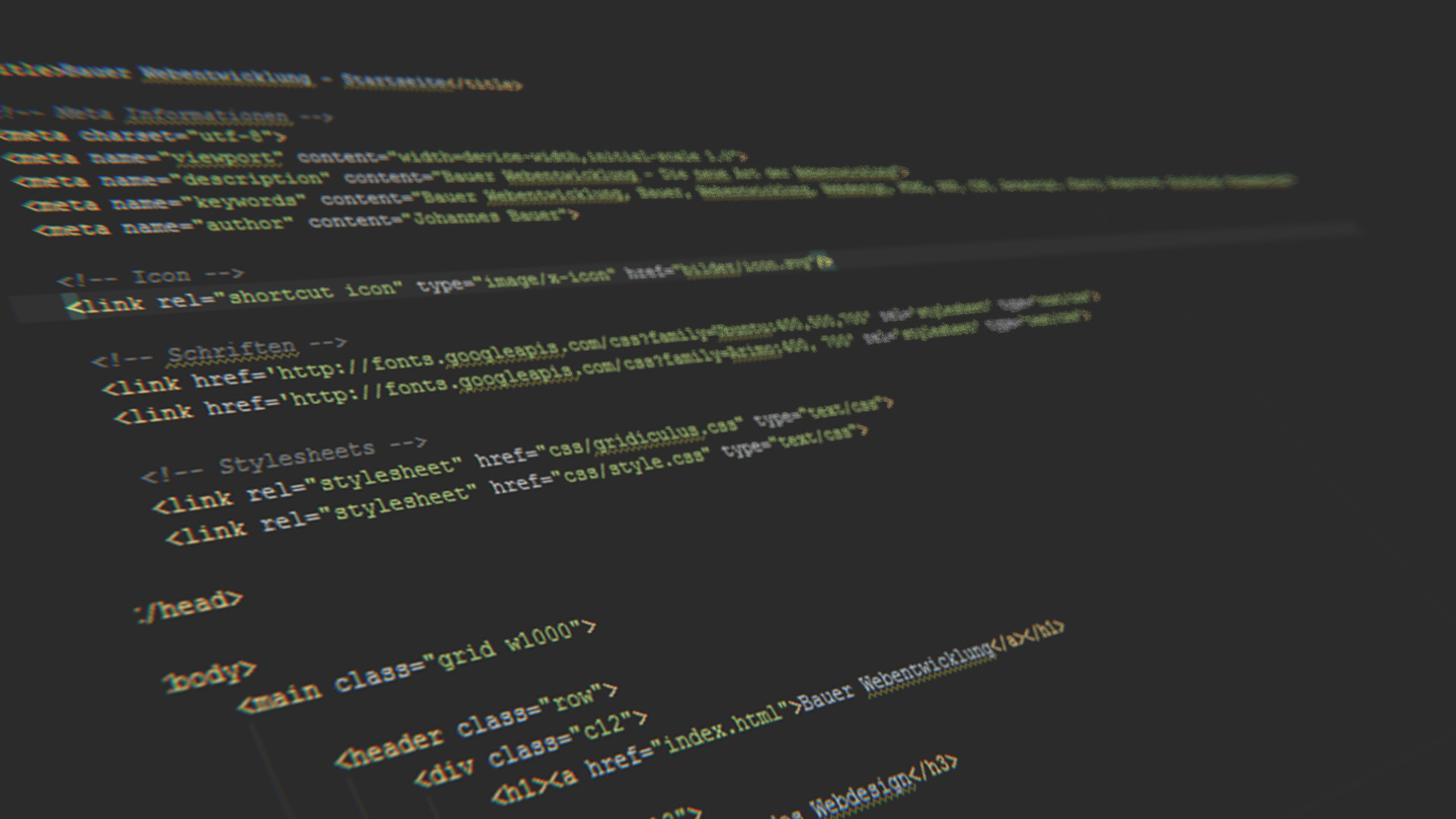 dark Gray Code, 3D, Depth Of Field, HTML, Code Wallpaper