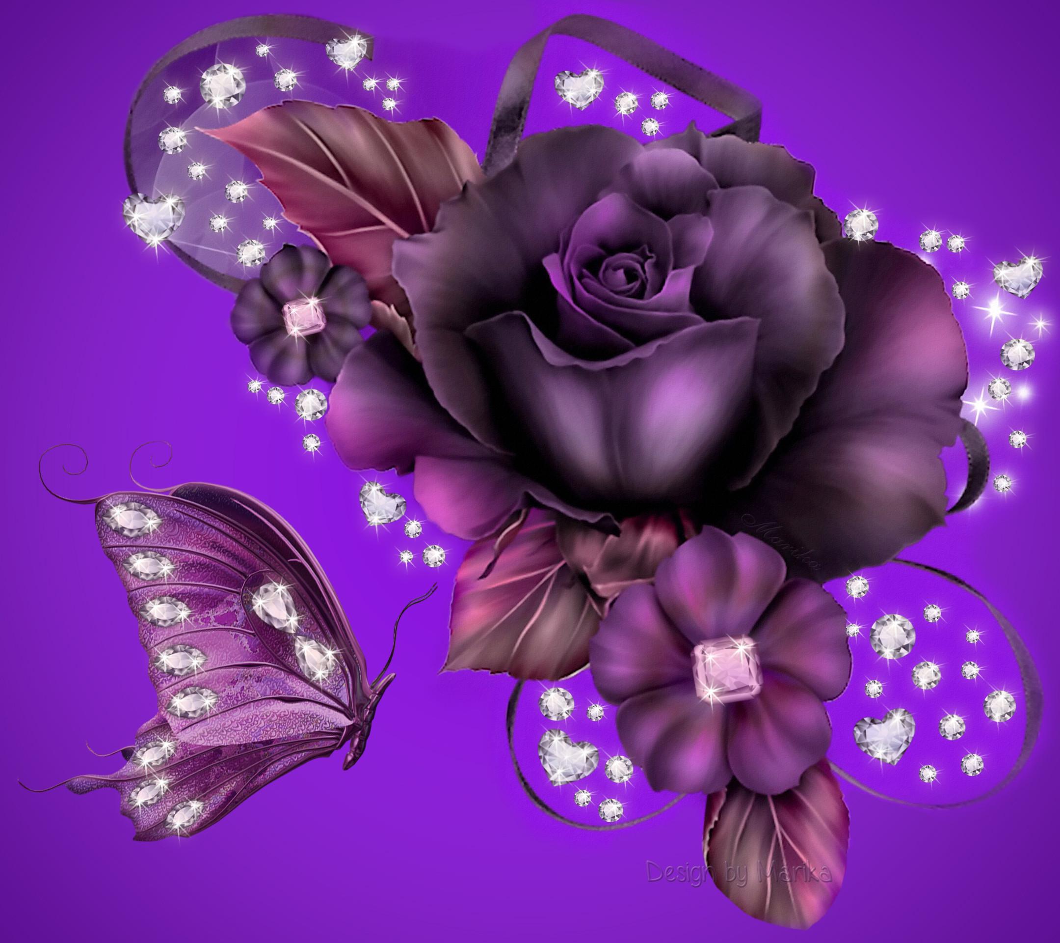 Purple Rose Background Wallpaper | Purple Rose Desktop Background HD  wallpapers