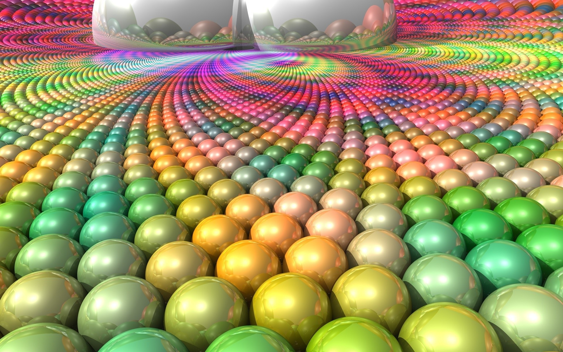 BALL SURFACE MULTI COLORED BRIGHT 3D Colorful Wallpaper.