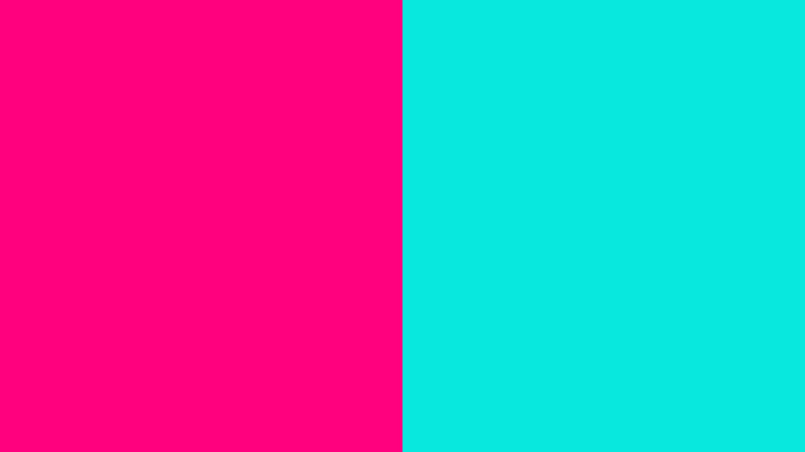 resolution Bright Pink and Bright Turquoise solid two color background .