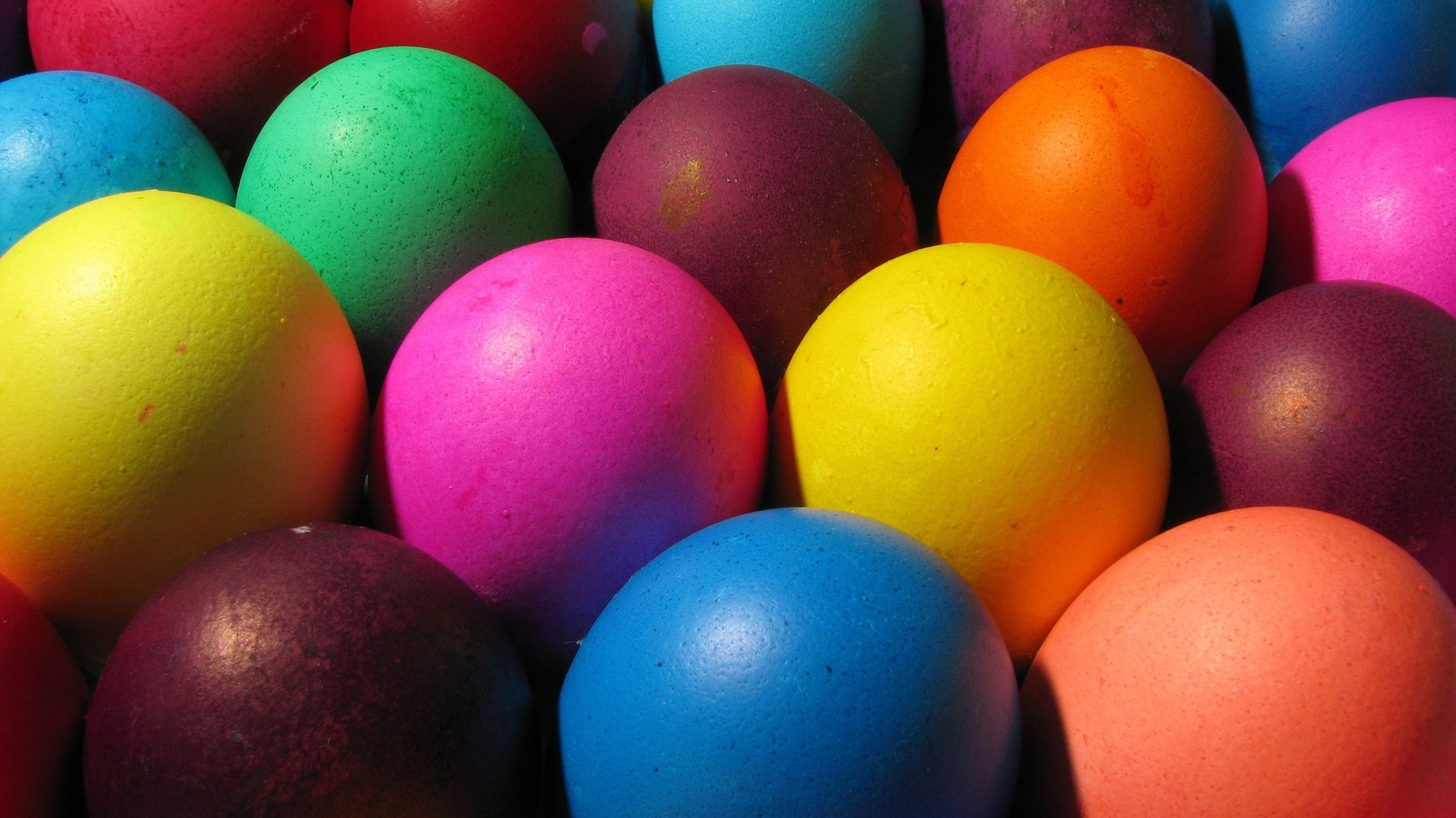 Preview wallpaper bright, colorful, eggs, easter 3840×2160