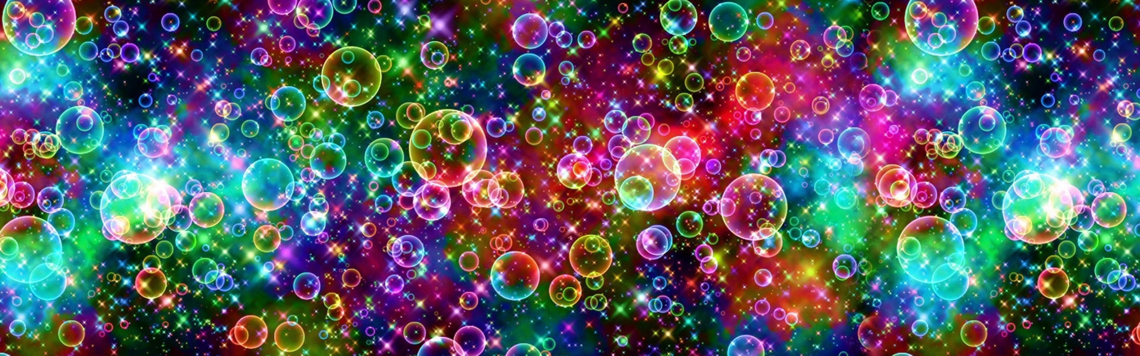 Wallpaper bubbles, colorful, bright