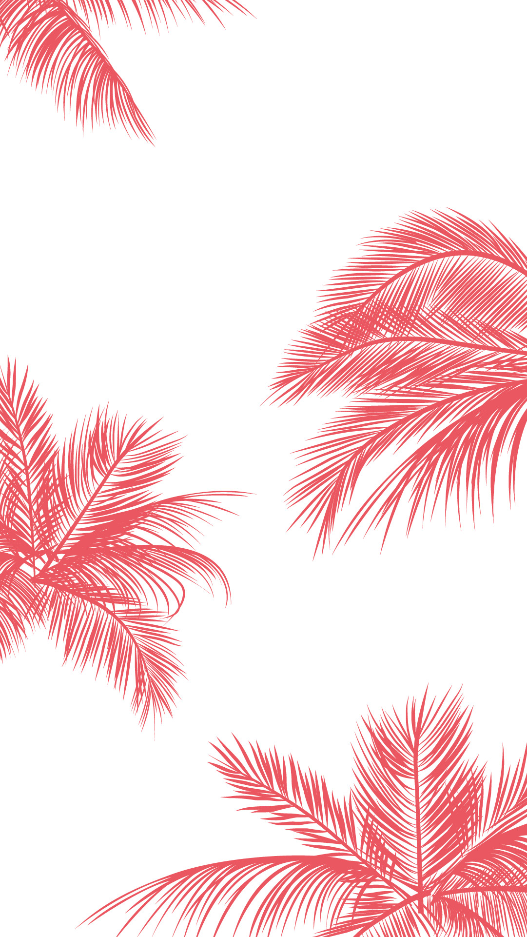Coral-pink-white-palm-trees-leaves-iphone-phone-