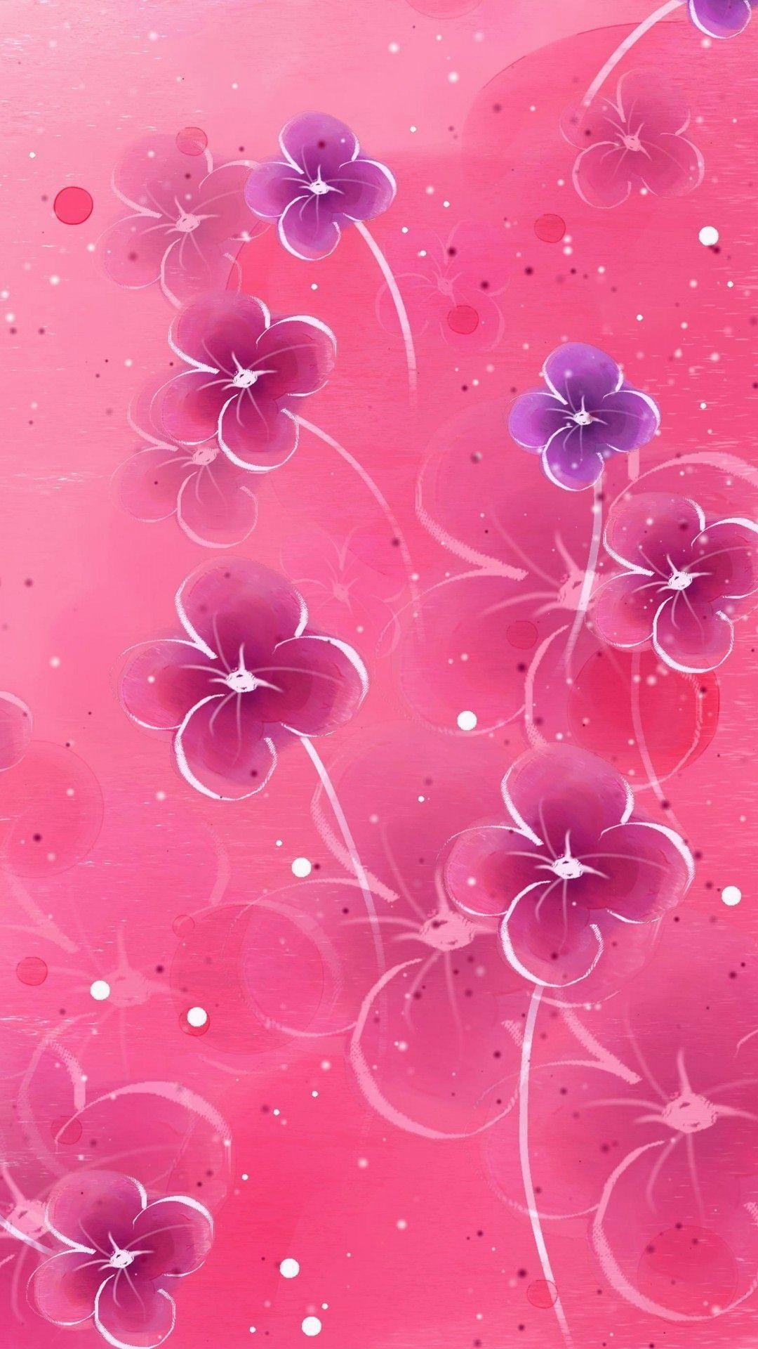 wallpaper.wiki-Pink-flower-iphone-wallpaper-PIC-WPD006671