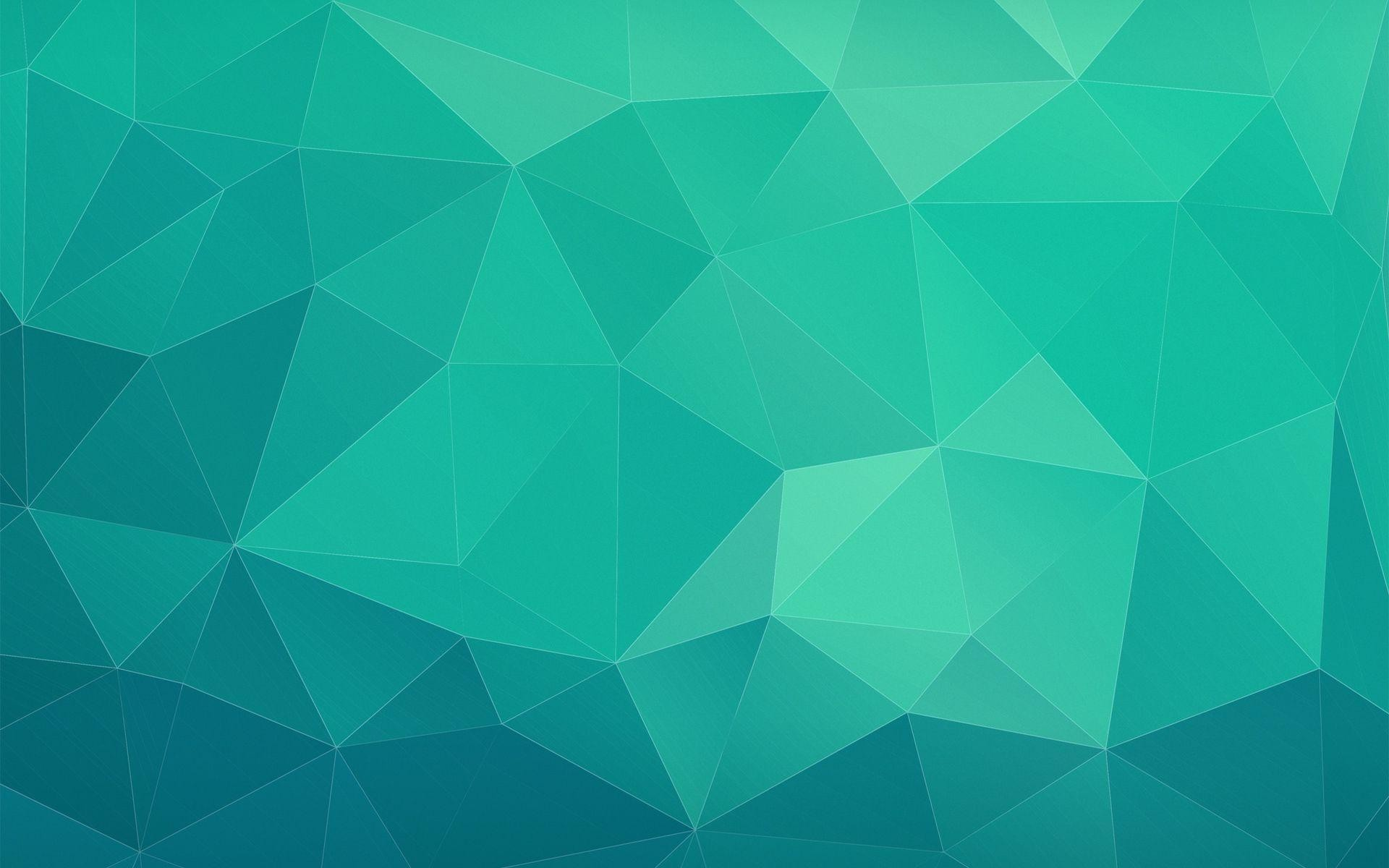 HD Blue and green triangles Wallpaper