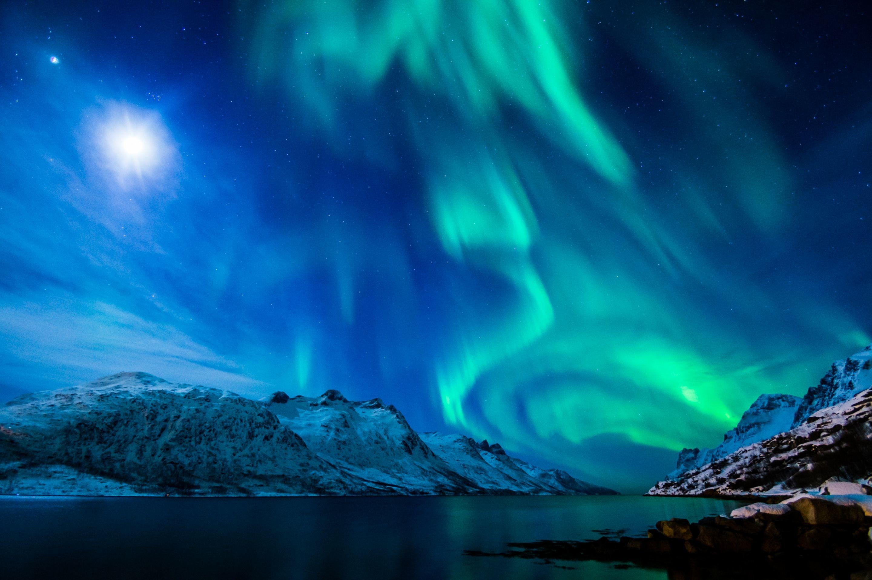 Blue Green Aurora Borealis