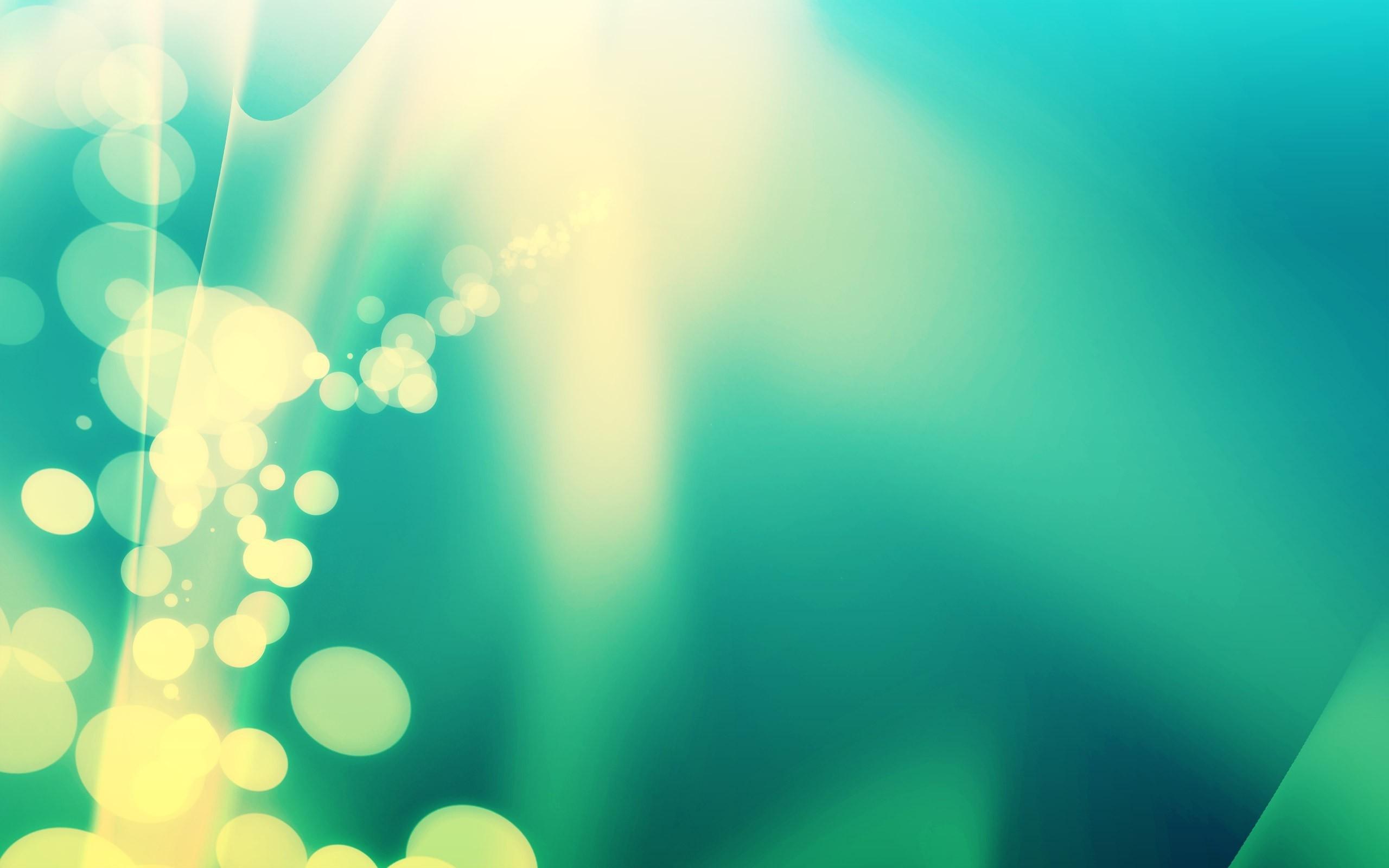 Green Color Stream desktop wallpaper