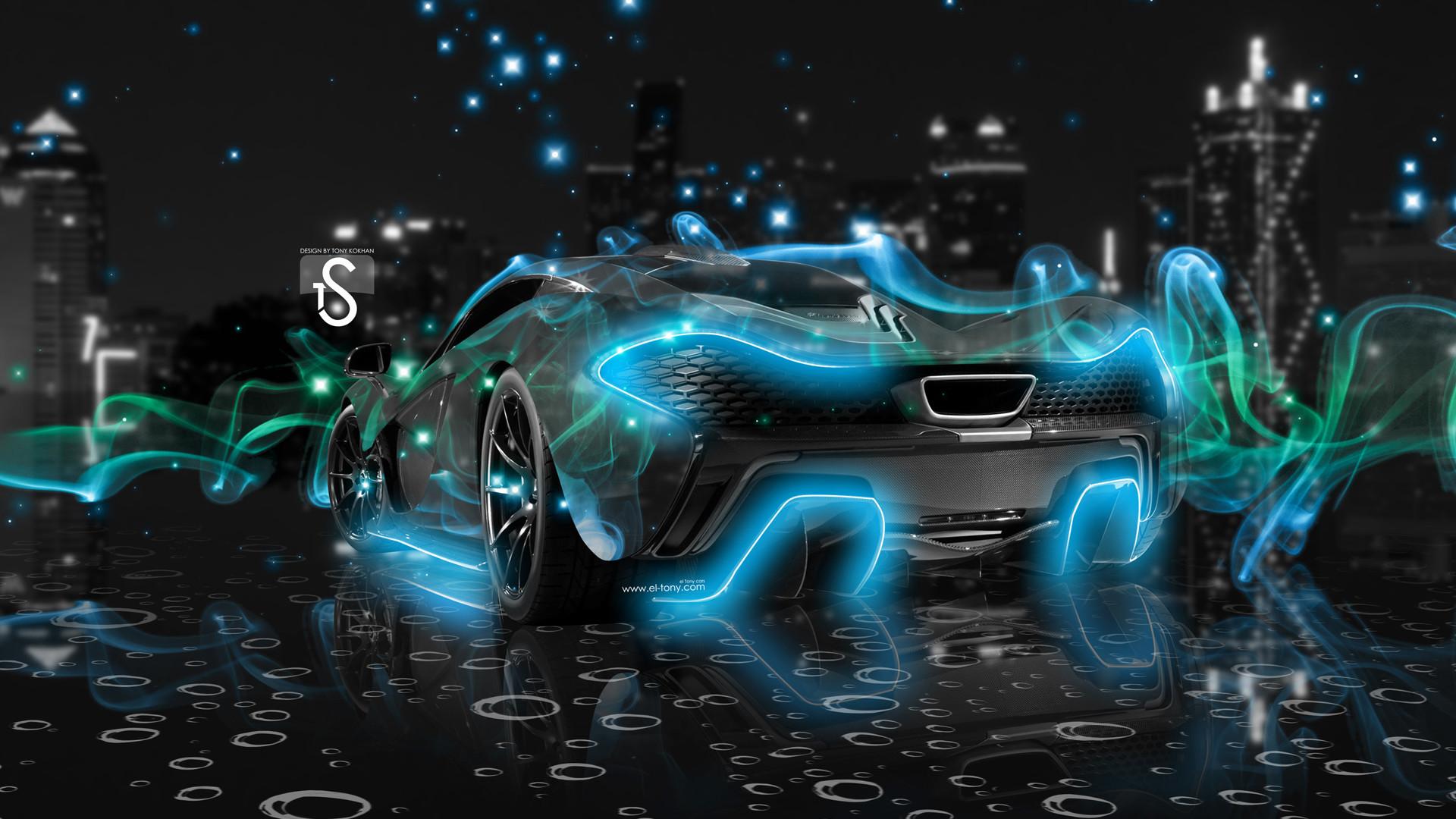 Cool Car Pictures Mclaren P1 Mclaren P1 Blue Smoke Crystal Wallpaper