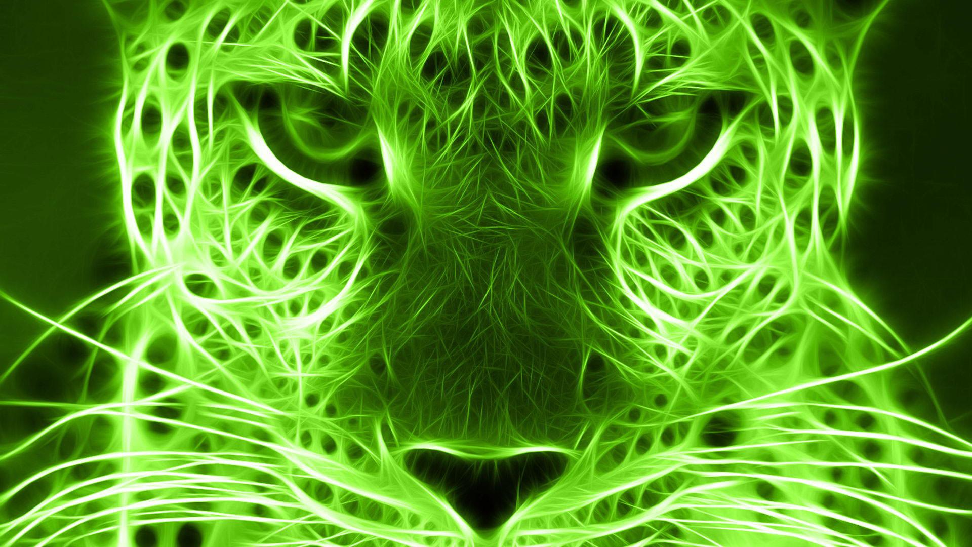 hd pics photos green animals digital art neon desktop background wallpaper