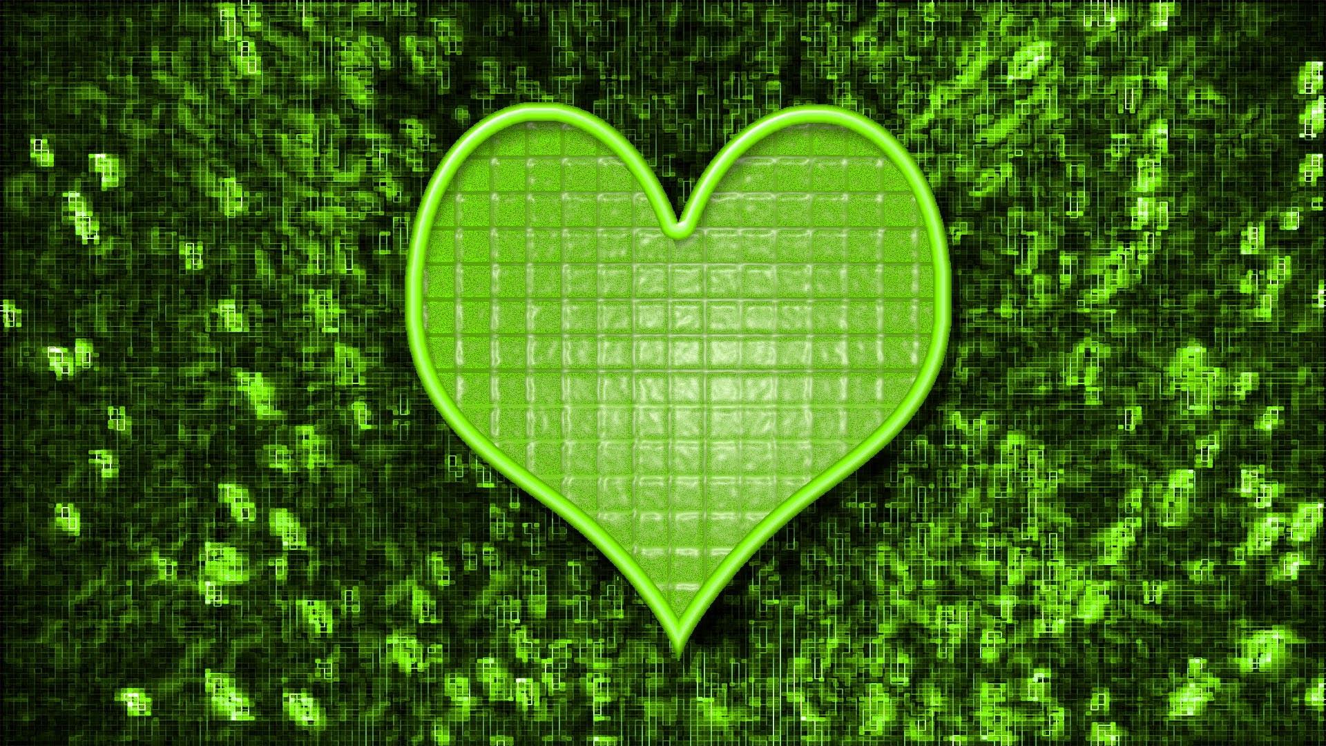Neon Green   Light Free Green Neon Lights Heart 1920×1080