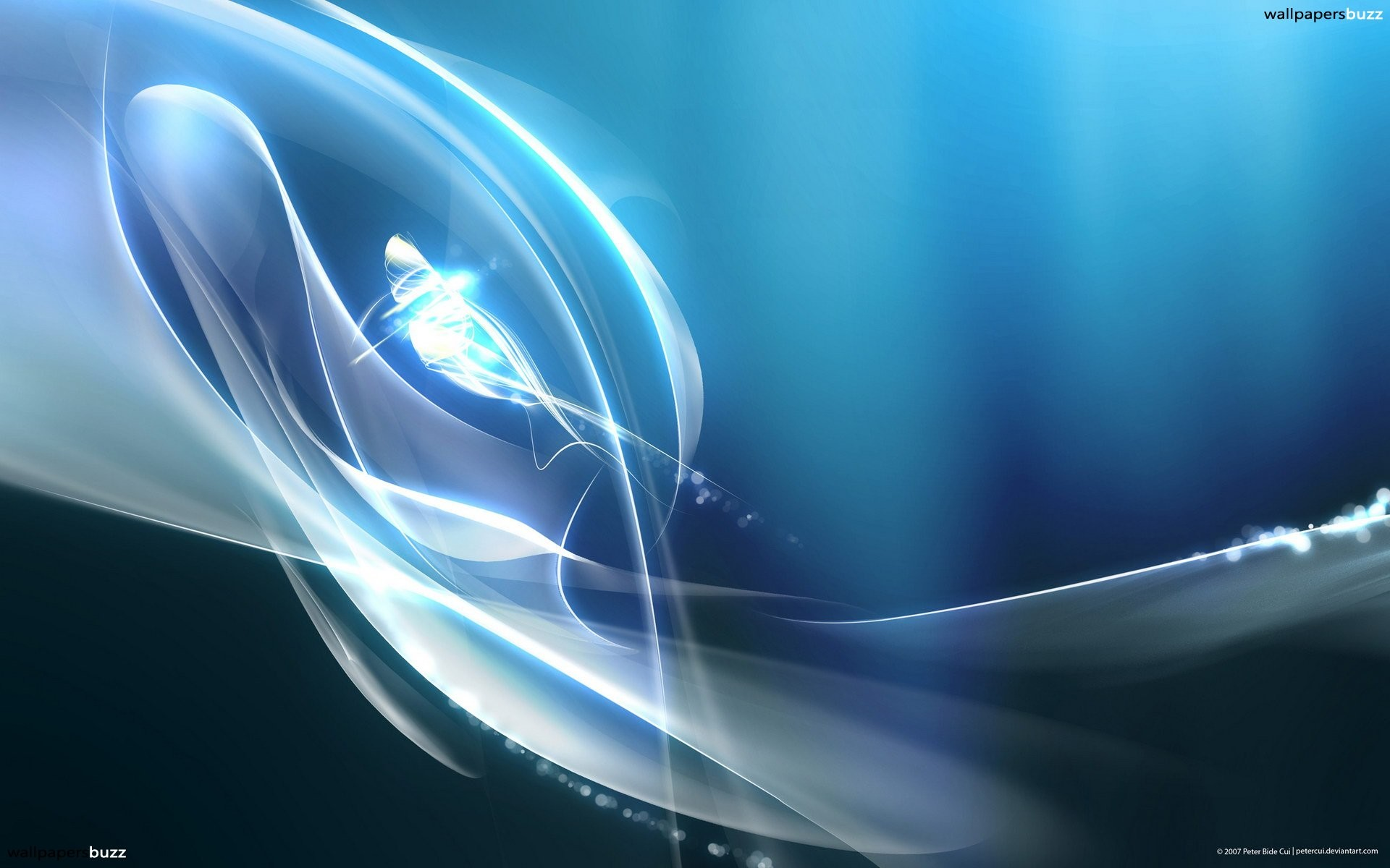 Blue abstract with white smoke