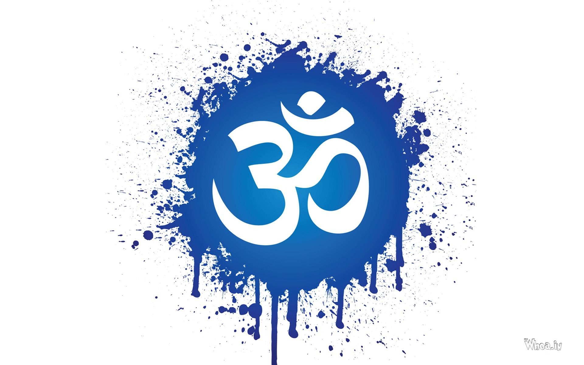 OM Symbol with White Background HD Wallpaper