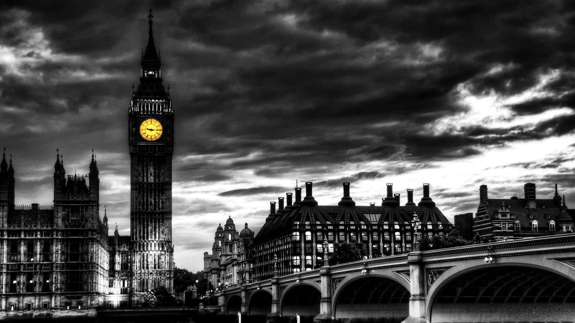 Download HD London Bridge Black And White Wallpaper WallpapersByte  1920×1200 London Black And White Wallpapers (37 Wallpapers) | Adorable  Wallpape…