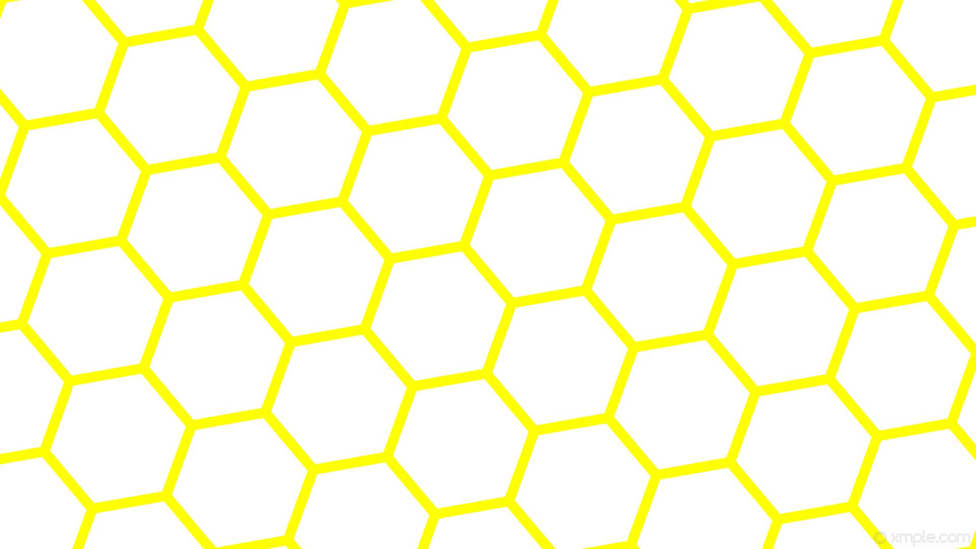 wallpaper yellow hexagon beehive honeycomb white #ffffff #ffff00 diagonal  40° 20px 255px