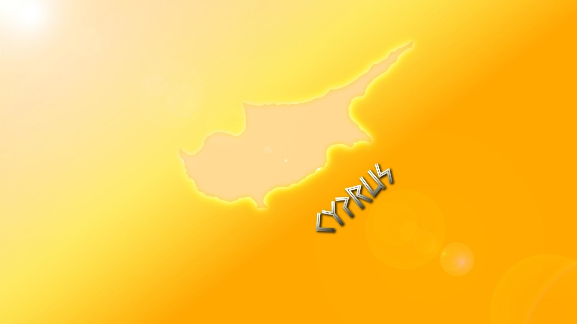 Light white yellow gold cyprus rays flag golden wallpaper