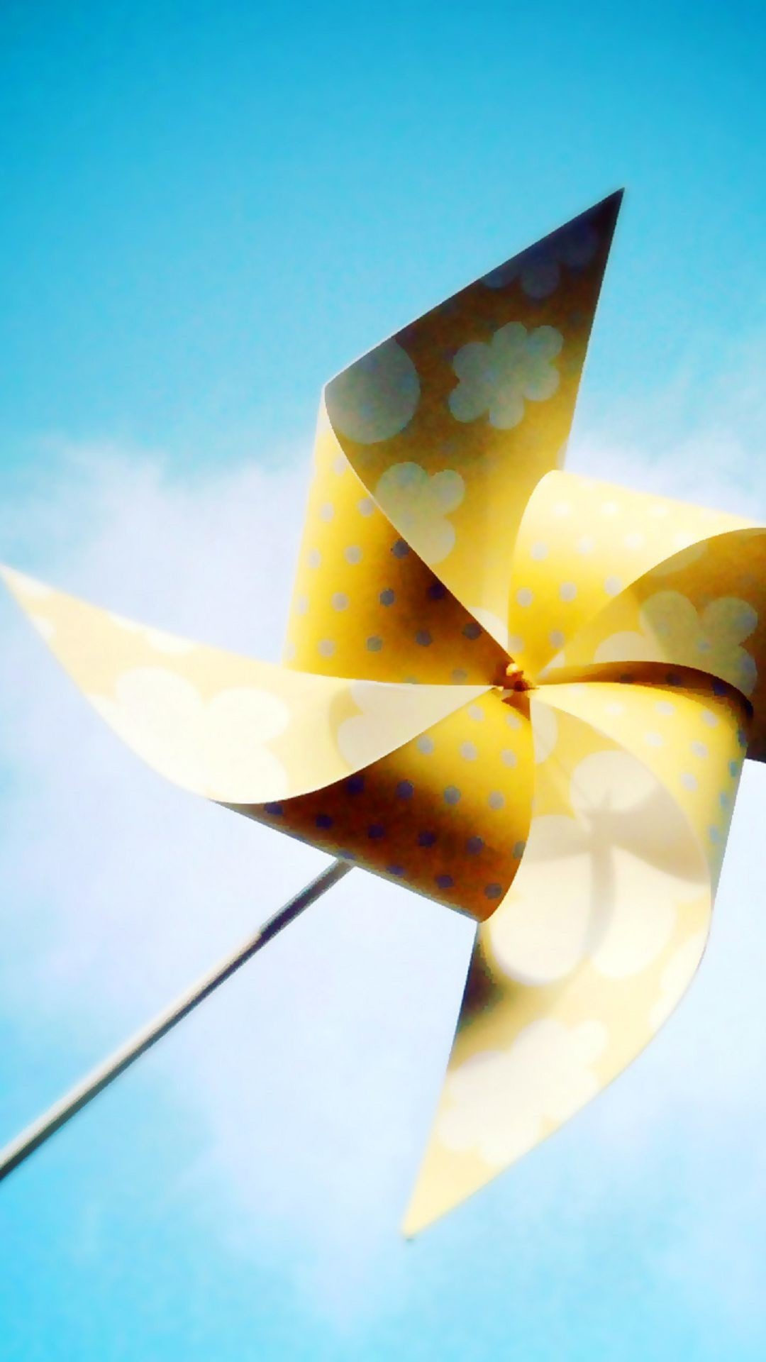 Yellow Pinwheel White Flowers Summer Android Wallpaper …
