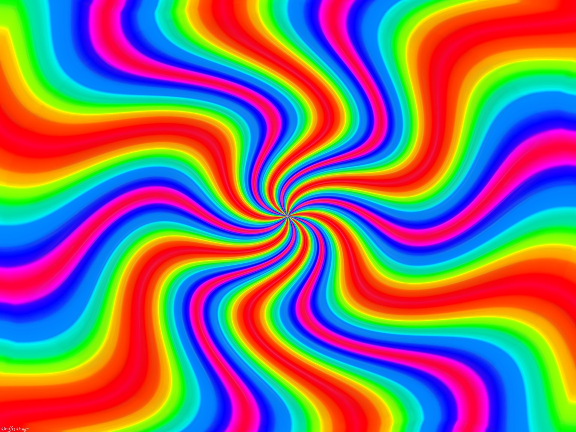 Wallpapers Rainbows Twister Rainbow Abstract Art Chaos Colors .