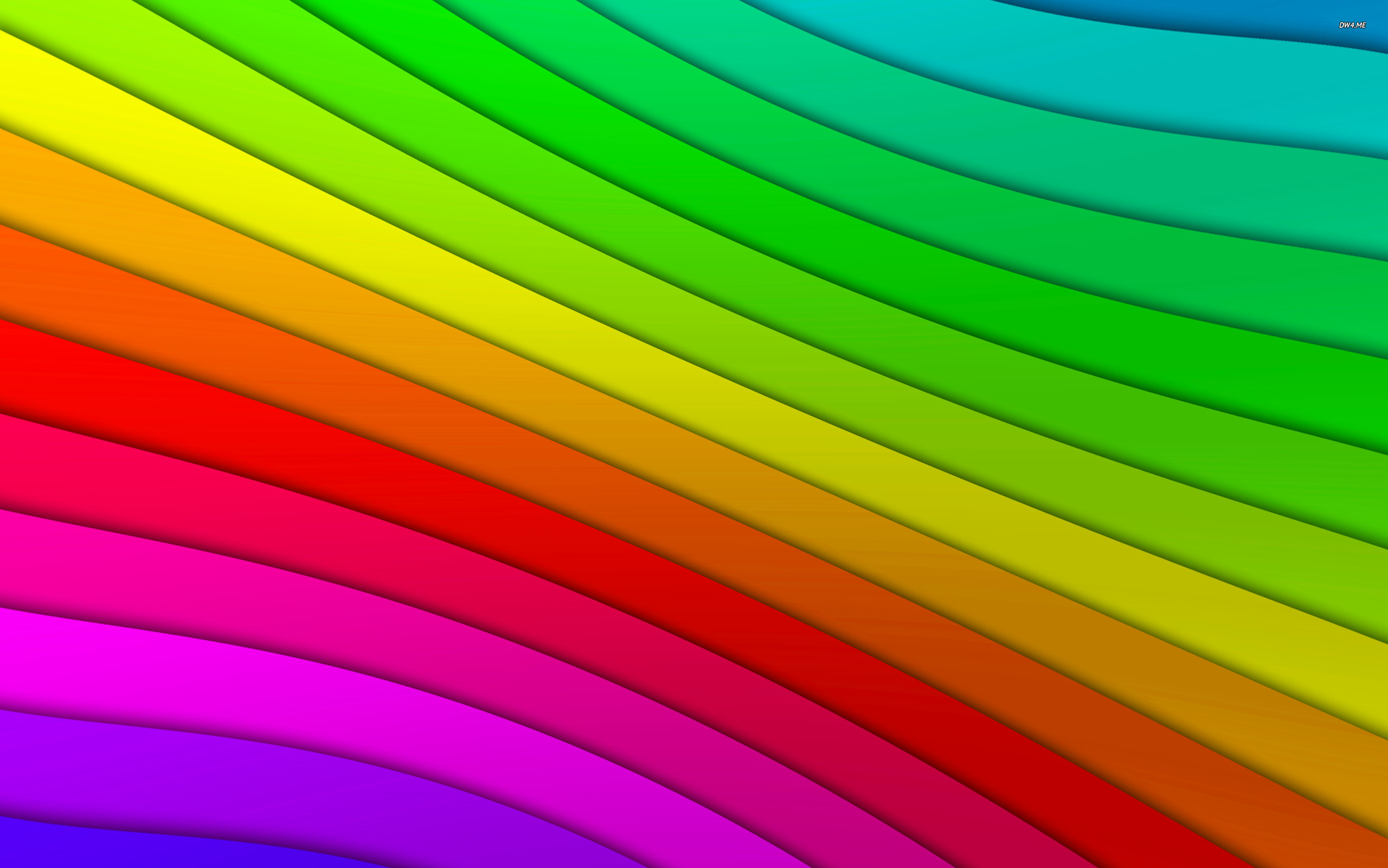 Colored curved lines wallpaper