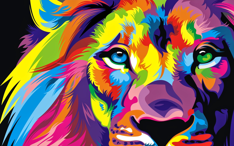 Lion Colorful Artwork