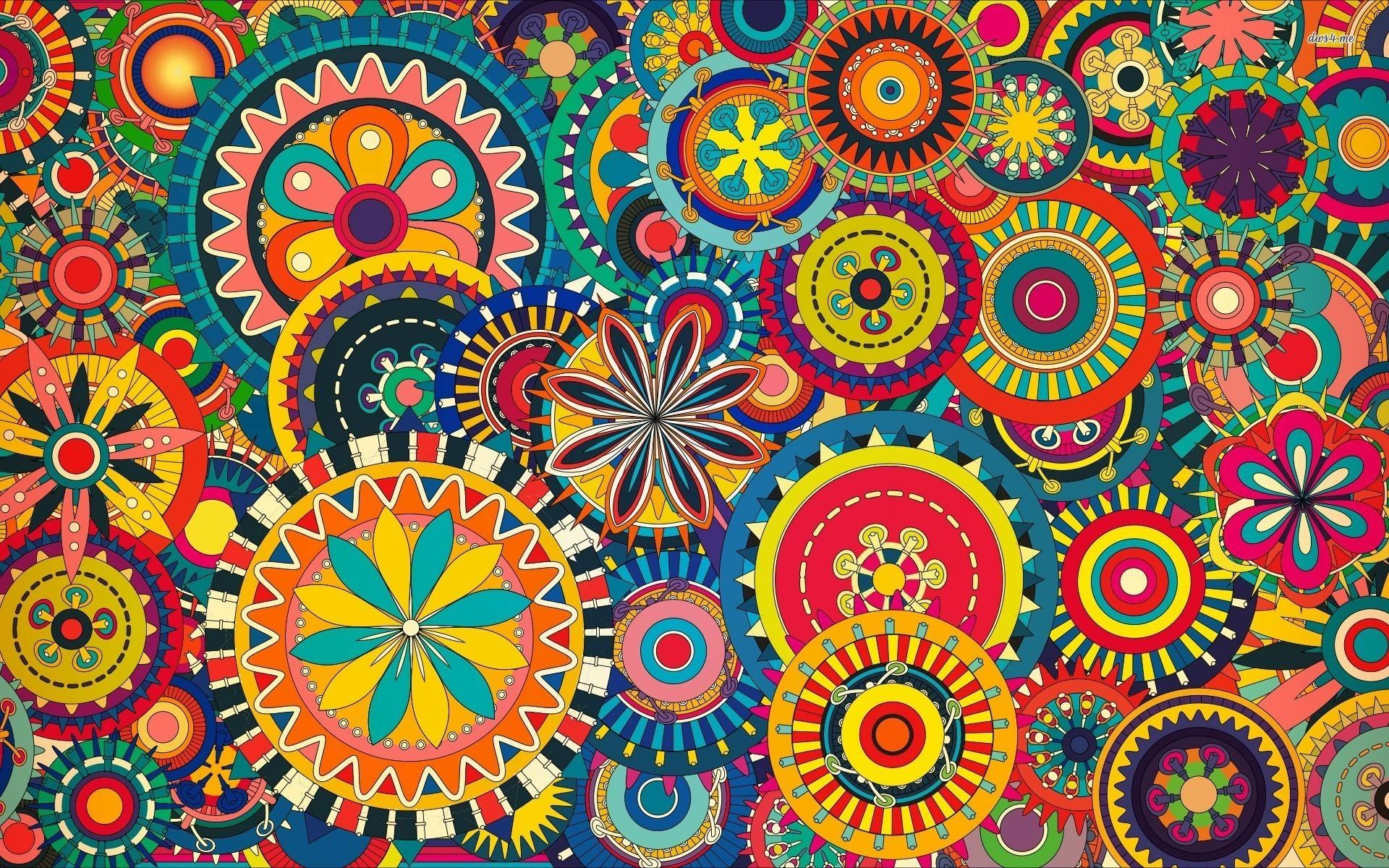 Colorful-floral-pattern-wallpaper Colorful wallpaper HD free .