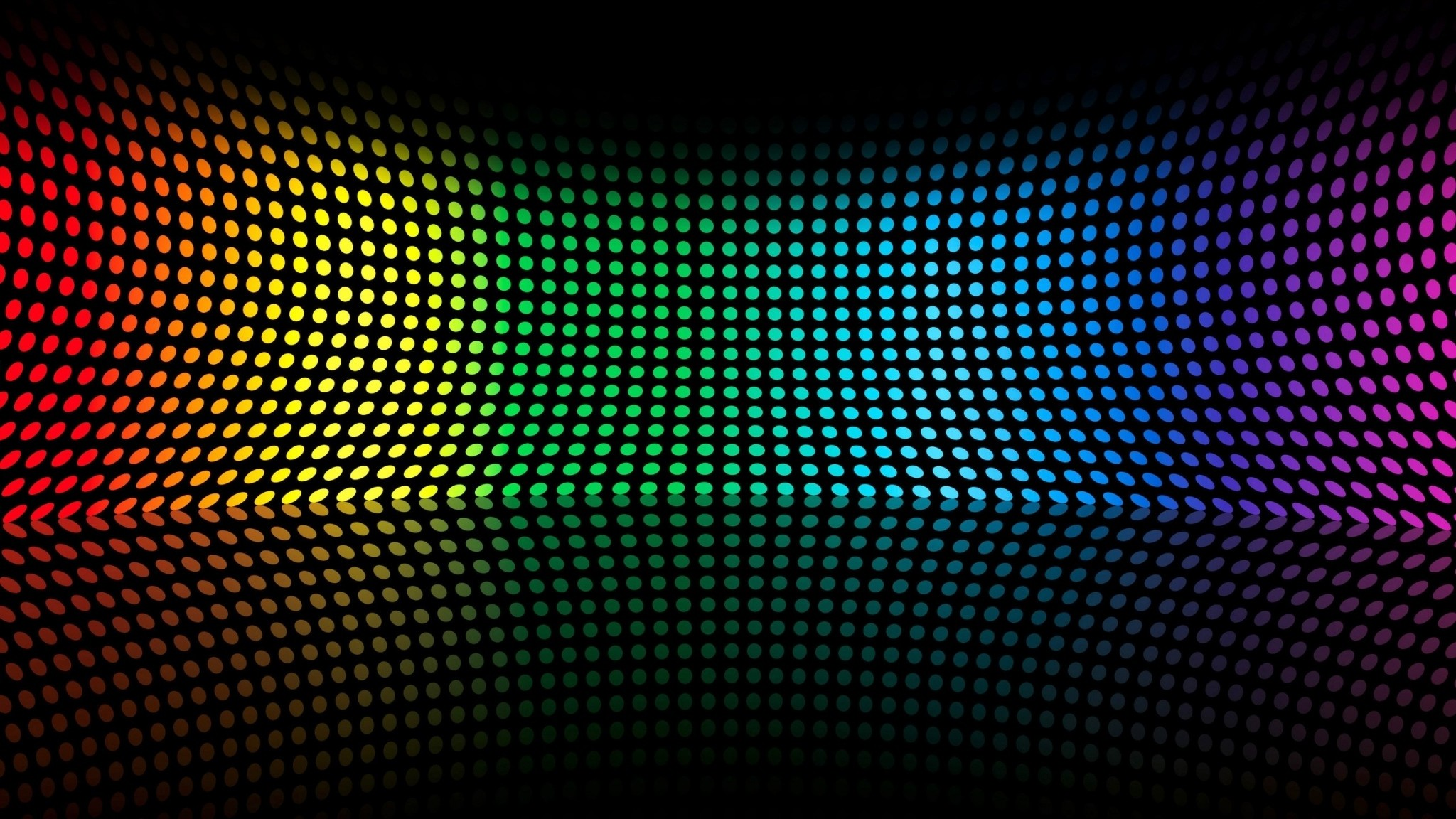 Preview wallpaper colorful, shape, point, surface, bending 2048×1152