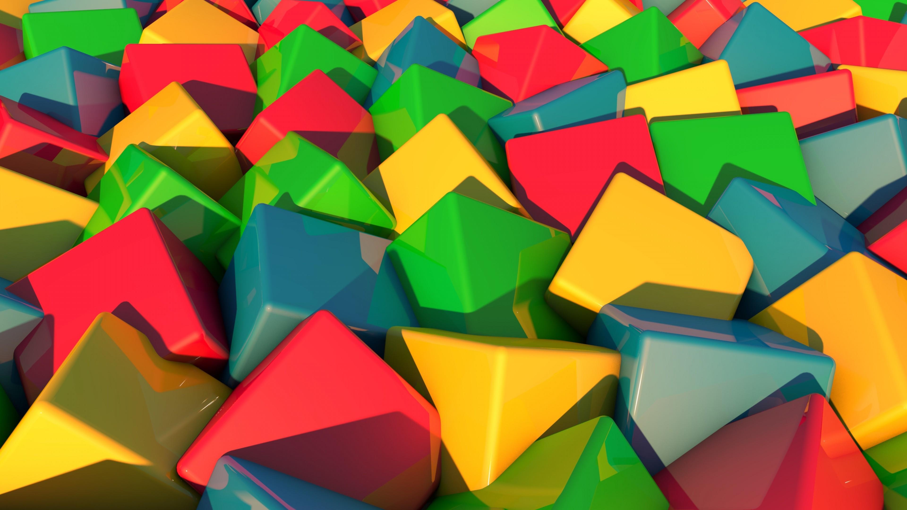 Preview wallpaper blocks, bright, multi-colored 3840×2160