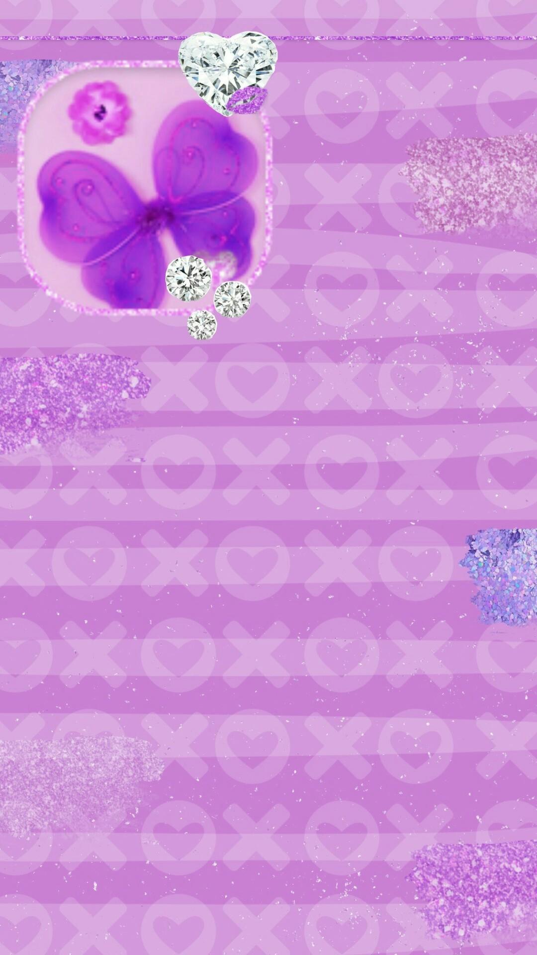 Glitter Wallpaper, Wallpaper Art, Purple Walls, Pretty Patterns, Phone  Wallpapers, Stationery, Kawaii, Kiss, Butterfly