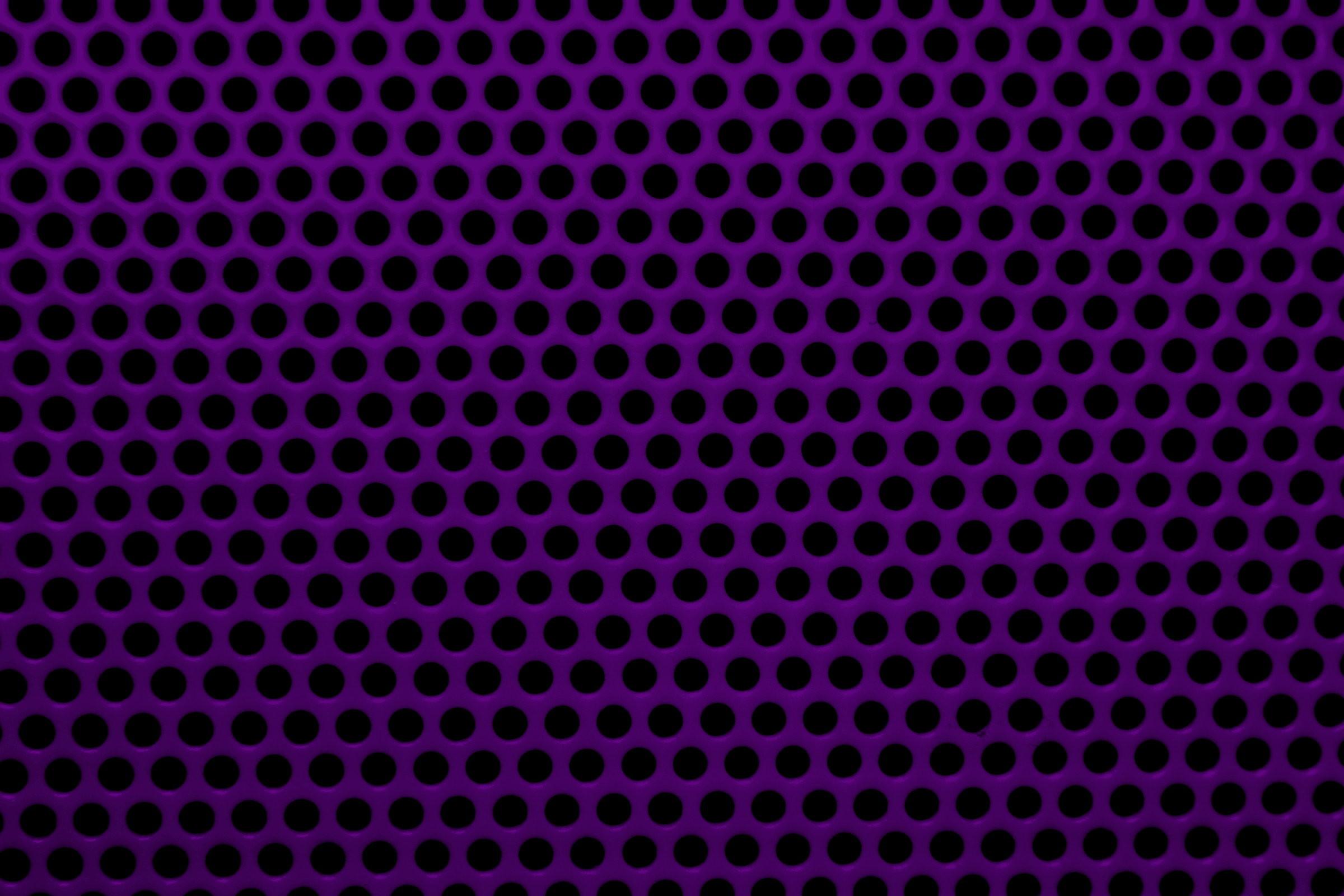 Dark Purple Metal Mesh with Round Holes Texture